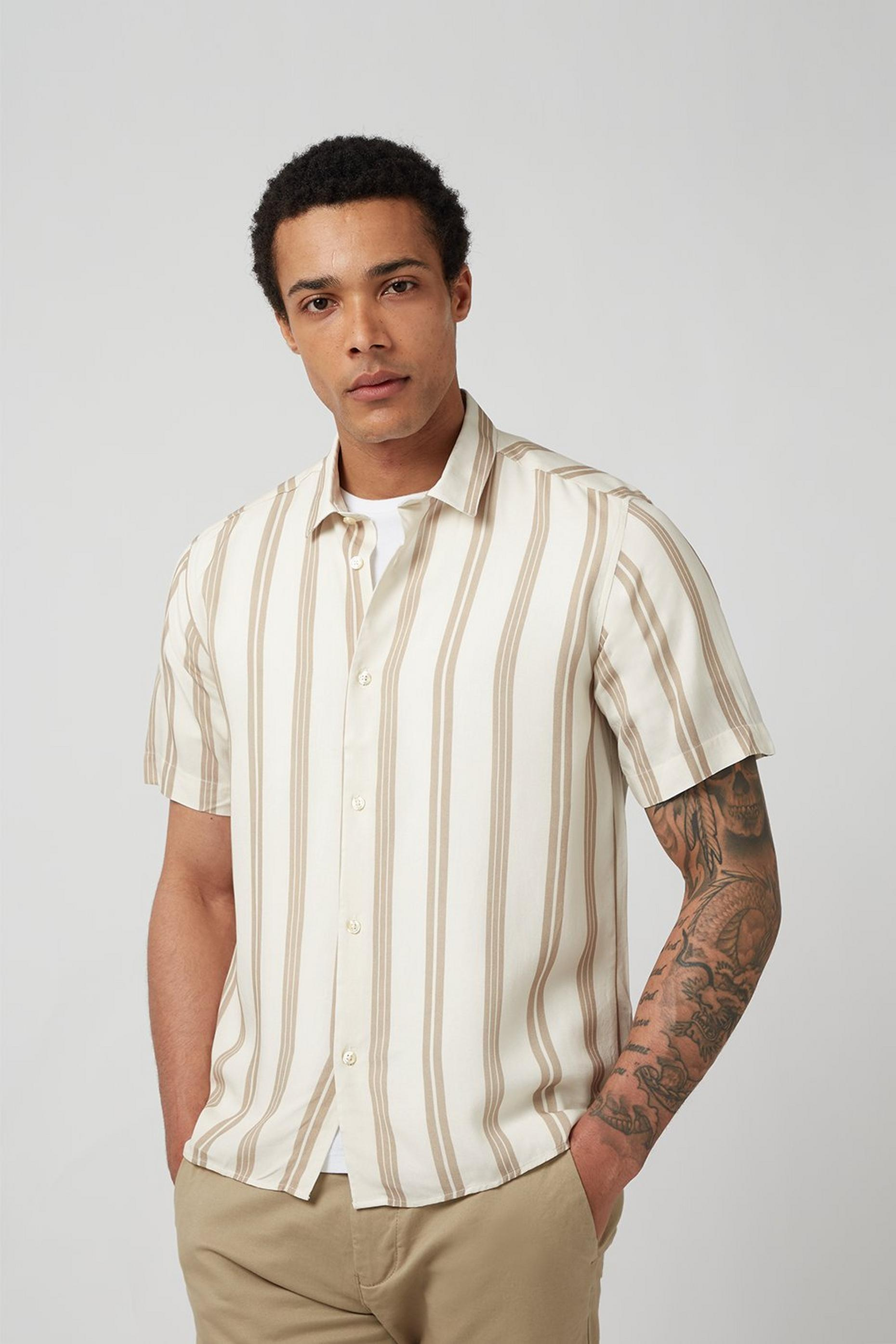 Ecru Striped Shirt