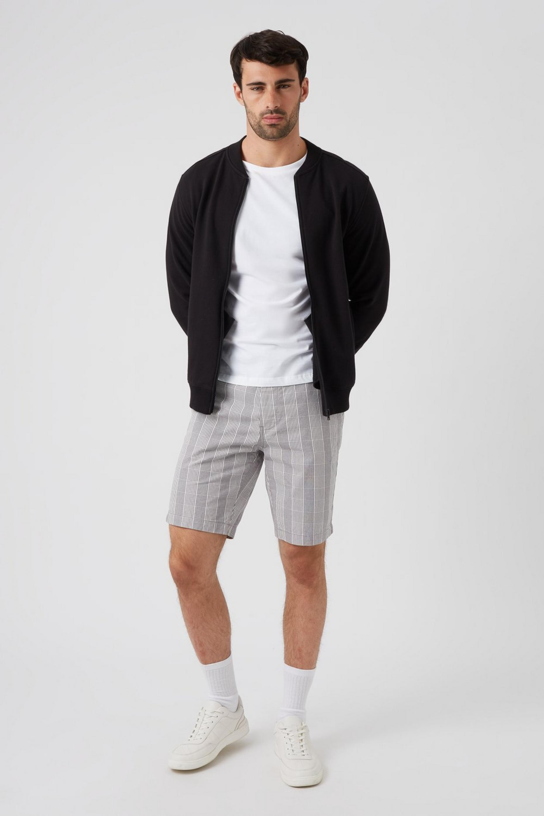 Smart Grey Fade Check Short