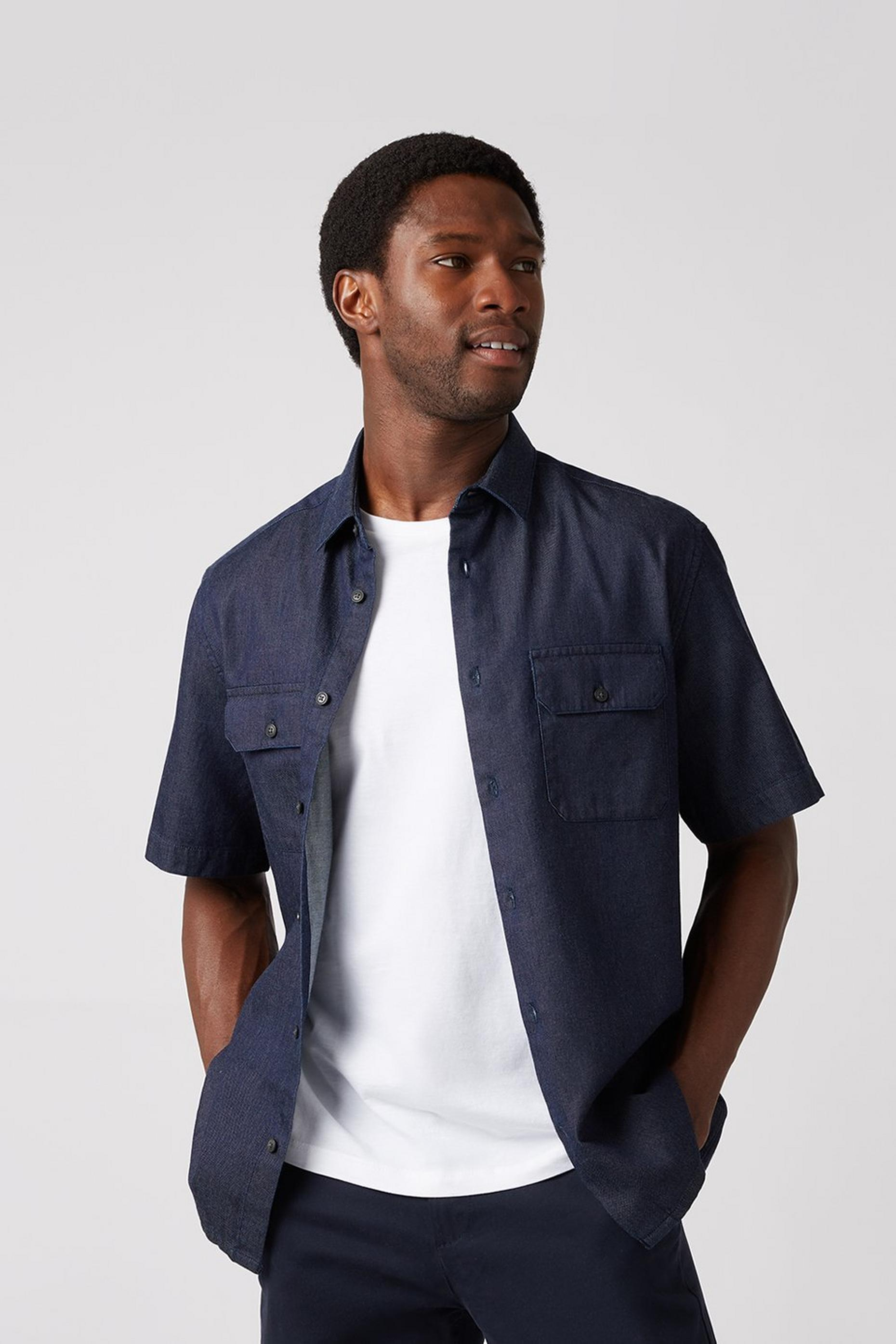 Dark Denim Utility Shirt