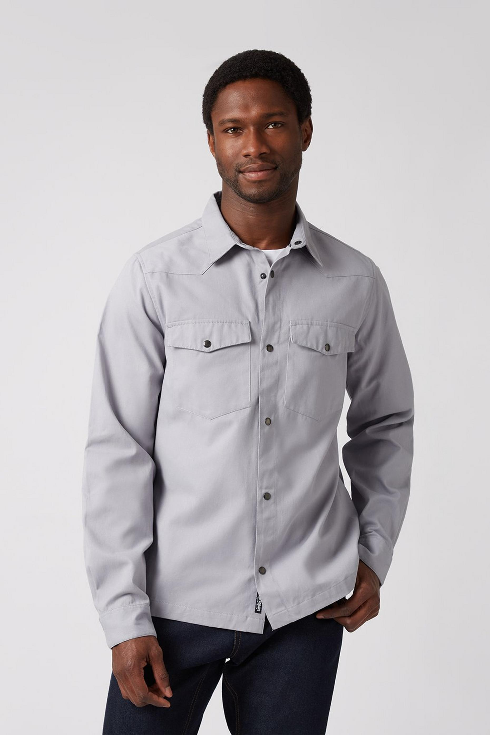 Black 2 Pocket Overshirt