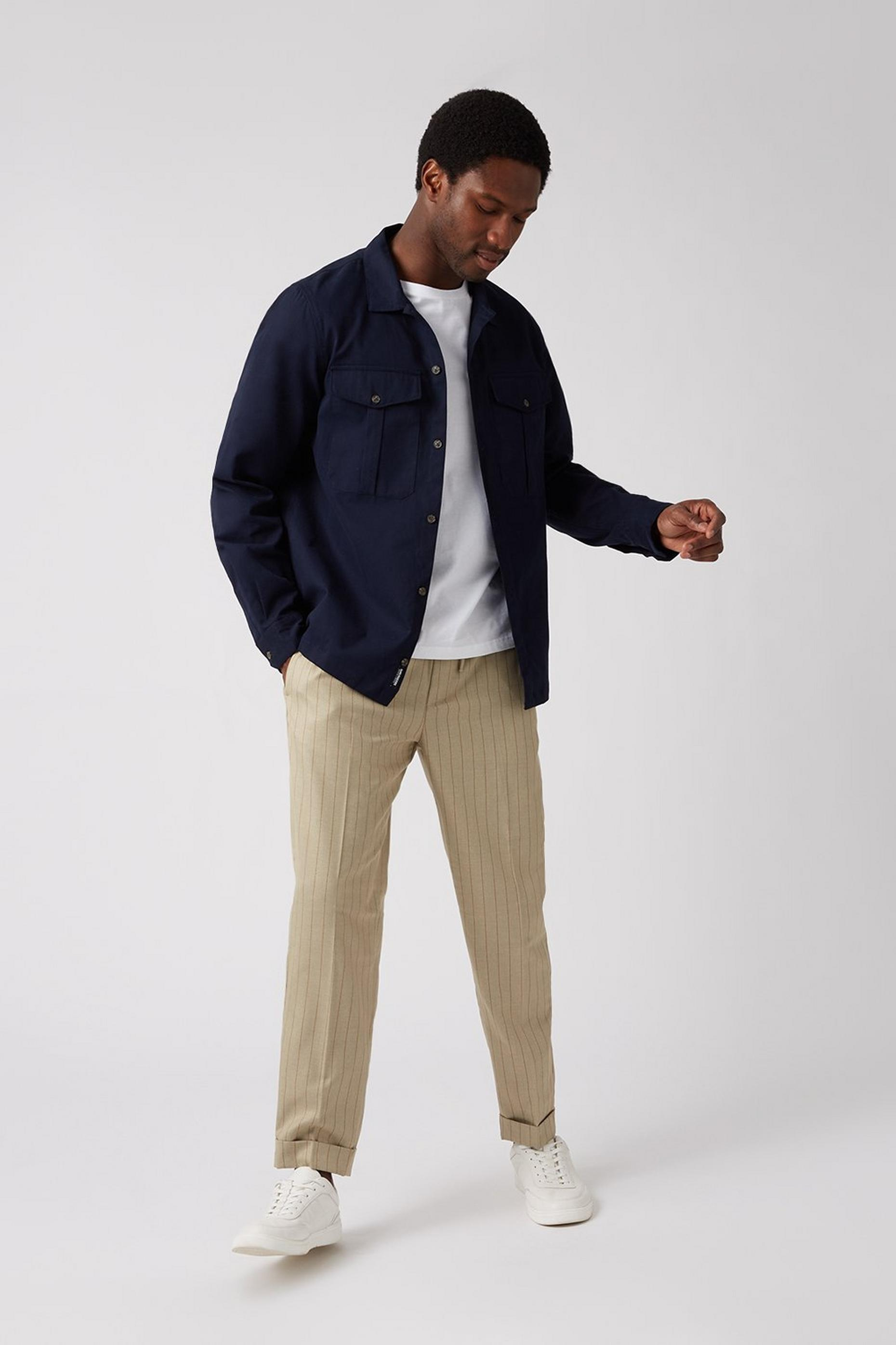 Navy 2 Pocket Overshirt