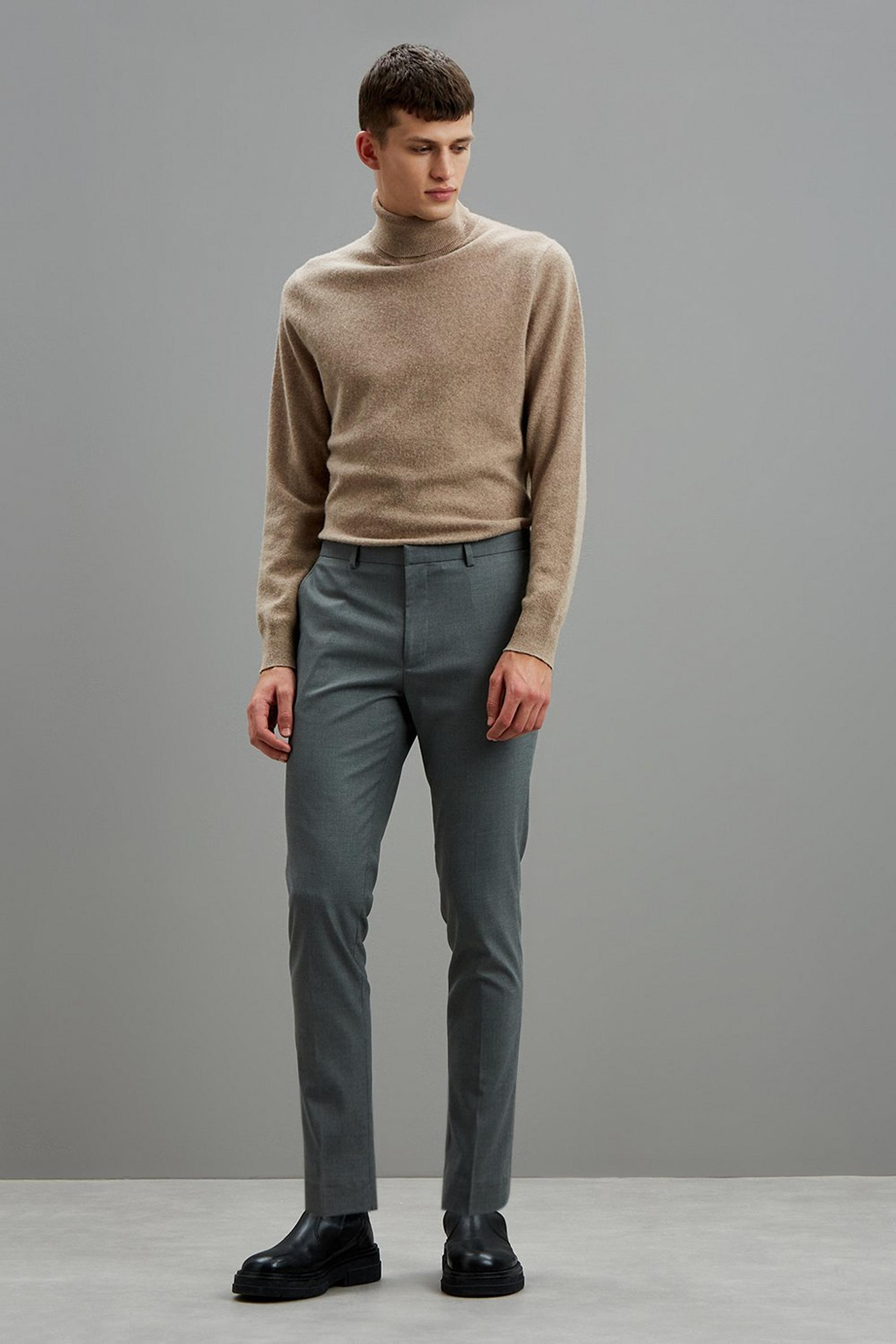 Grey Essential Skinny Fit Suit Trousers