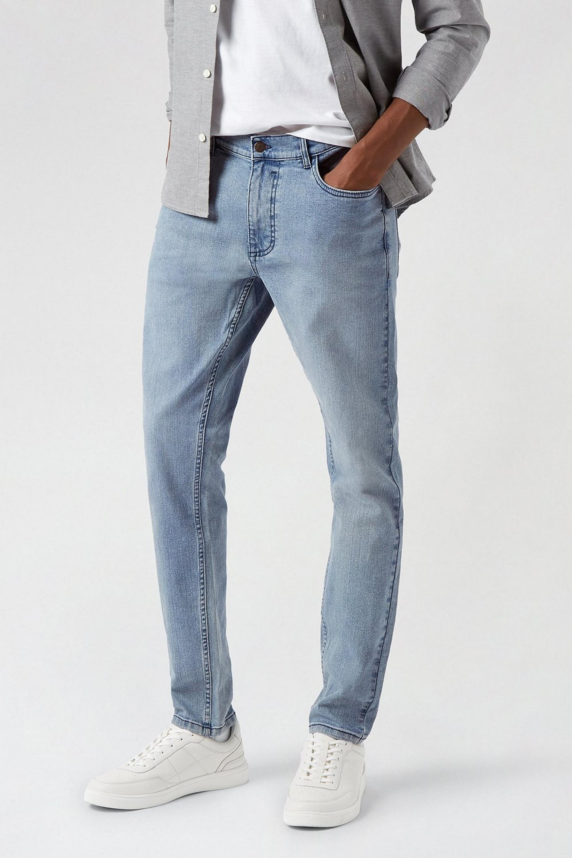 Blue Light Wash Skinny Jeans