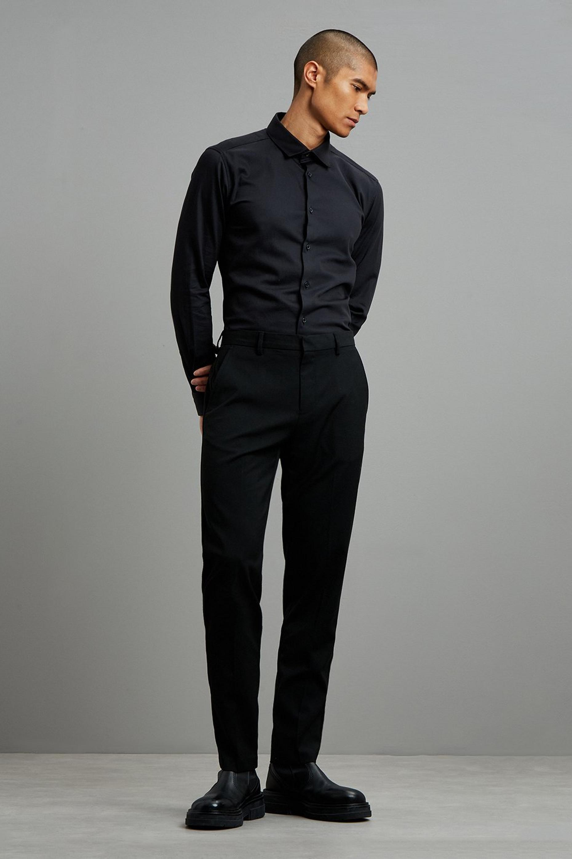 Black Slim Fit Recycled Trousers