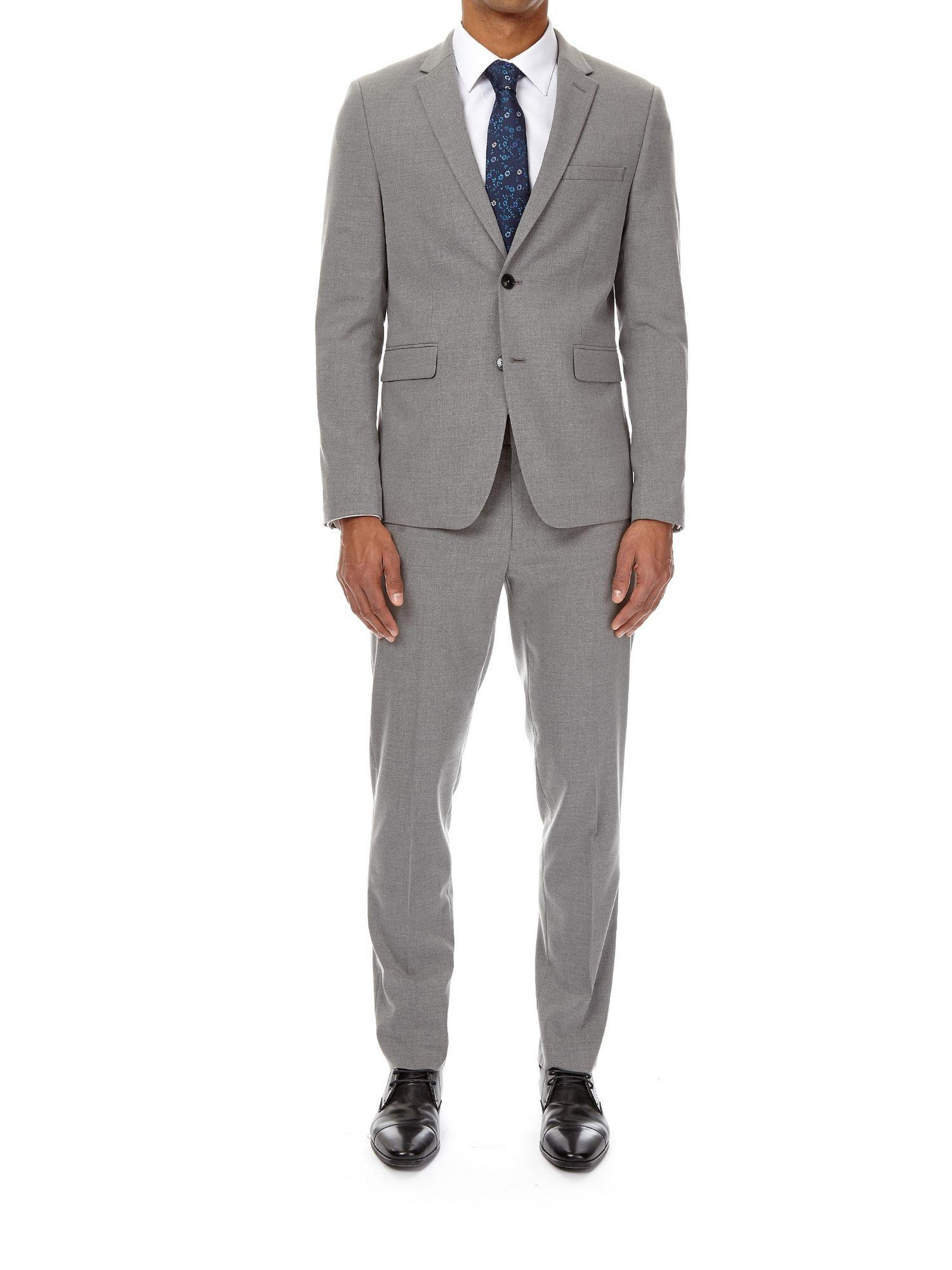 Light Grey Essential Skinny Fit Suit Jacket