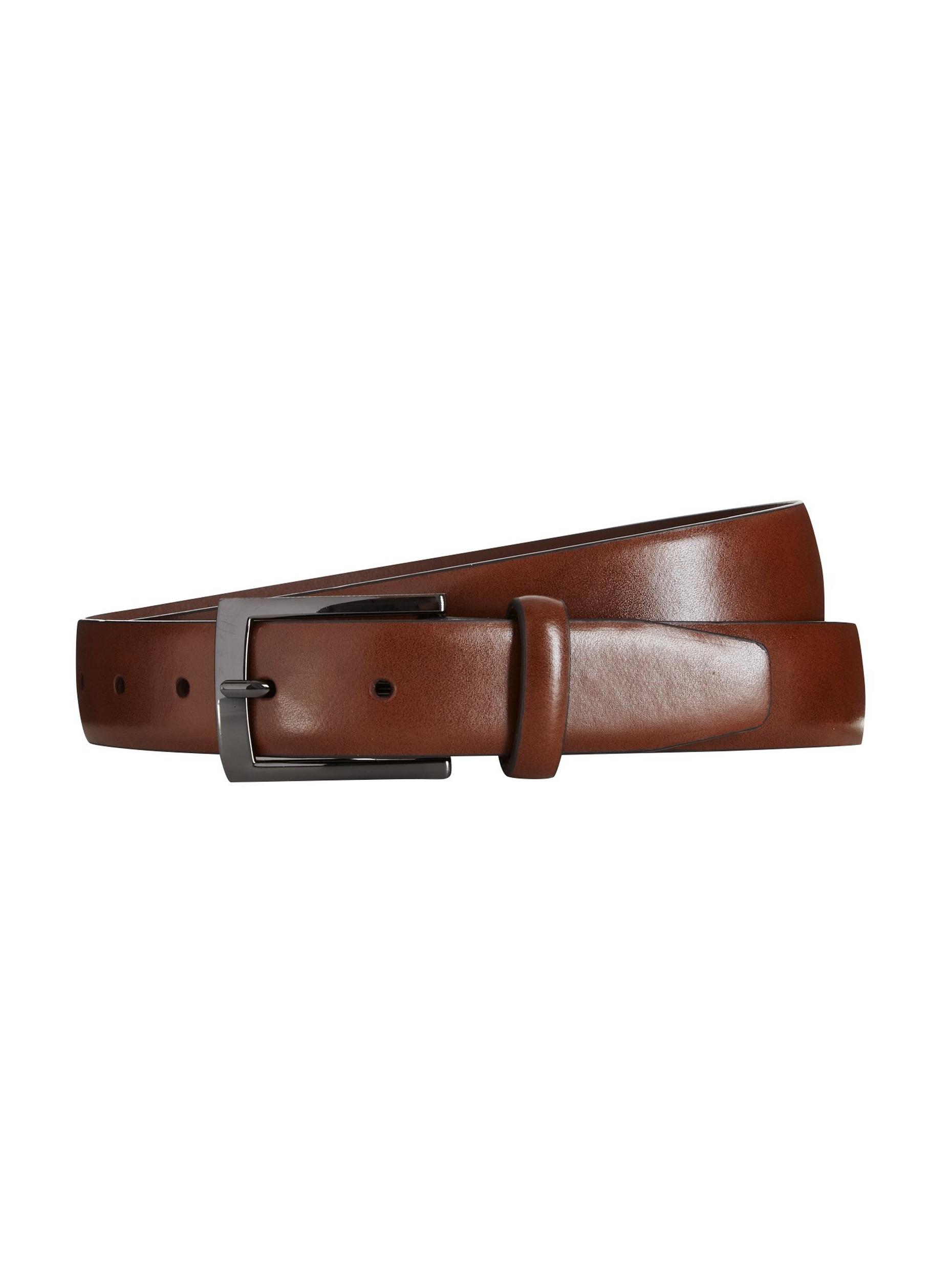 Brown Text Buckle Belt