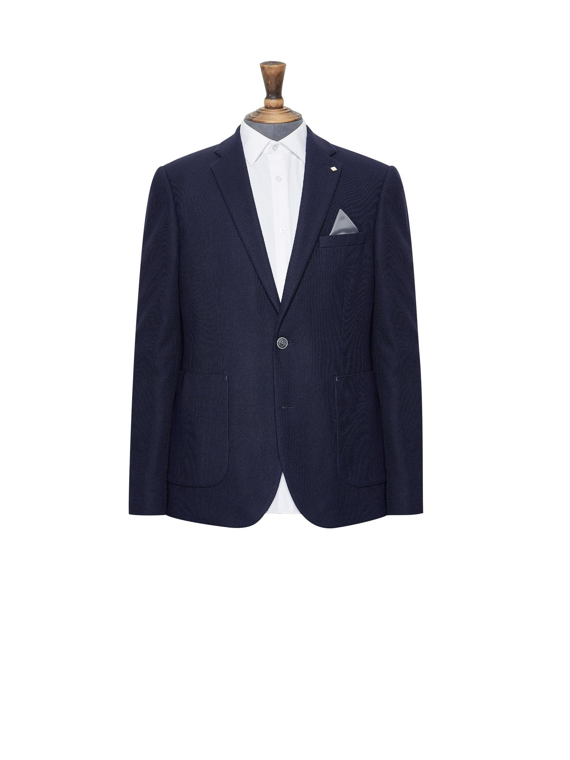 Navy Textured Blazer