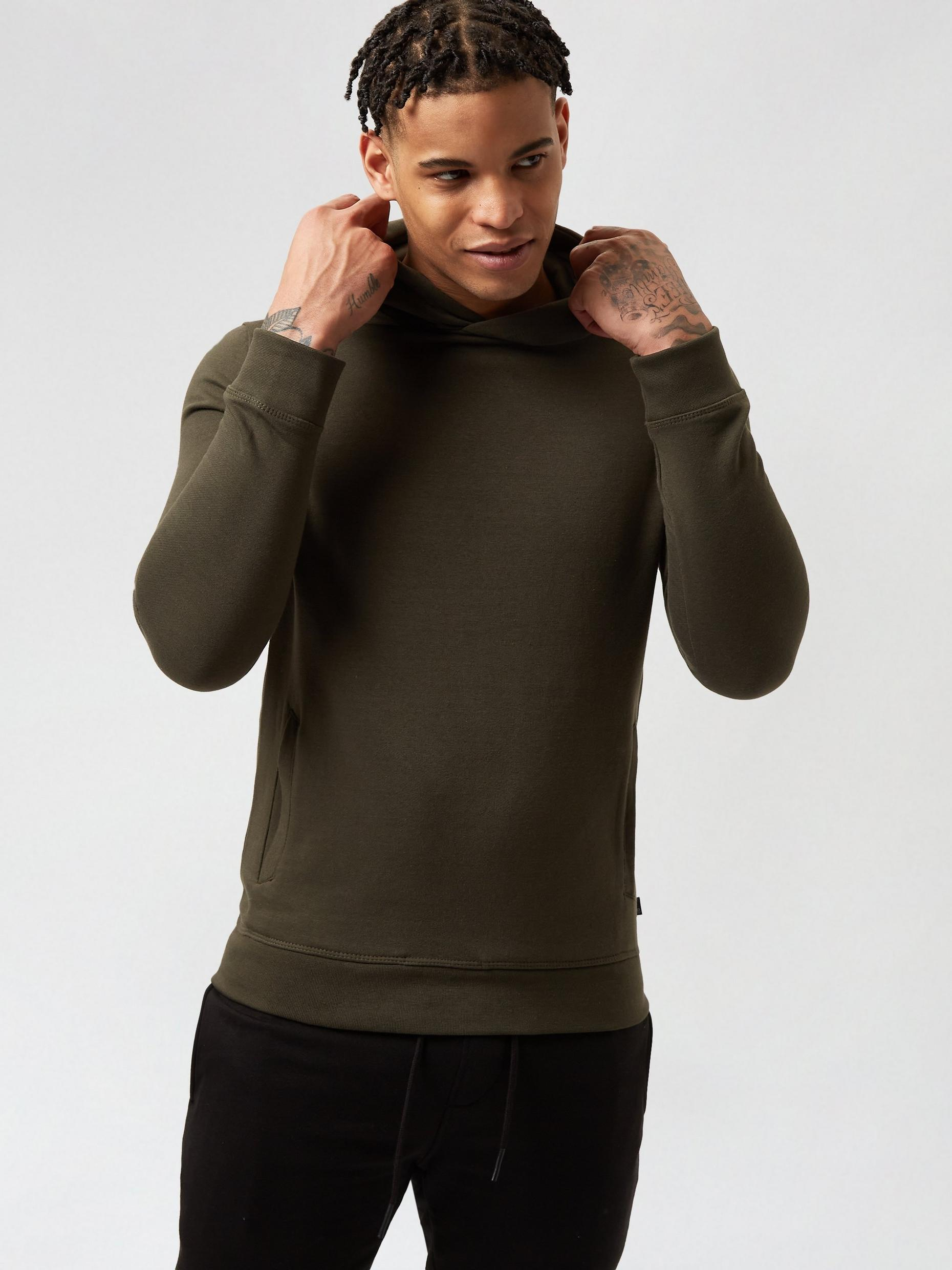 2 Pack Black and Khaki Hoodies