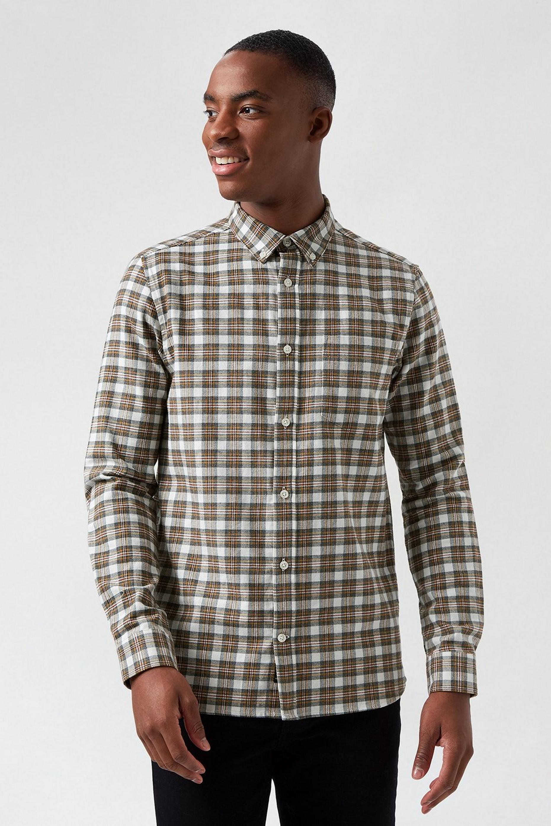 Ecru Base Check Shirt
