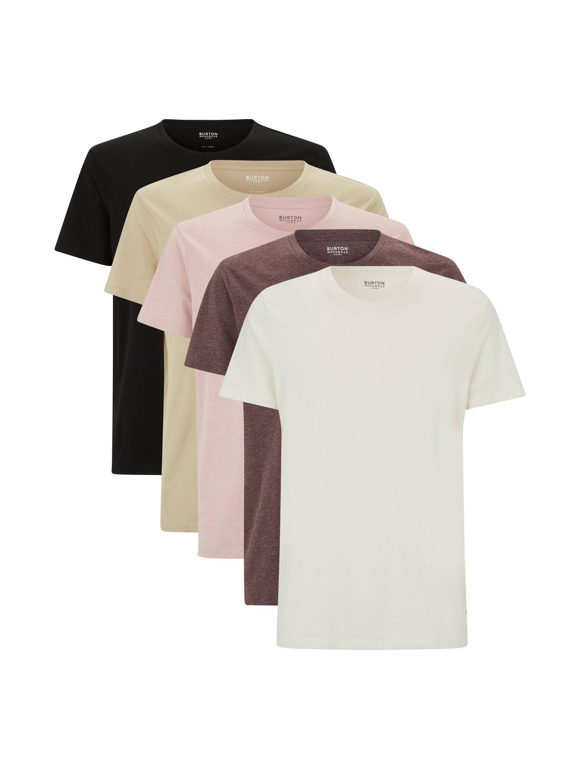 5 Pack Assorted Colour Tshirts