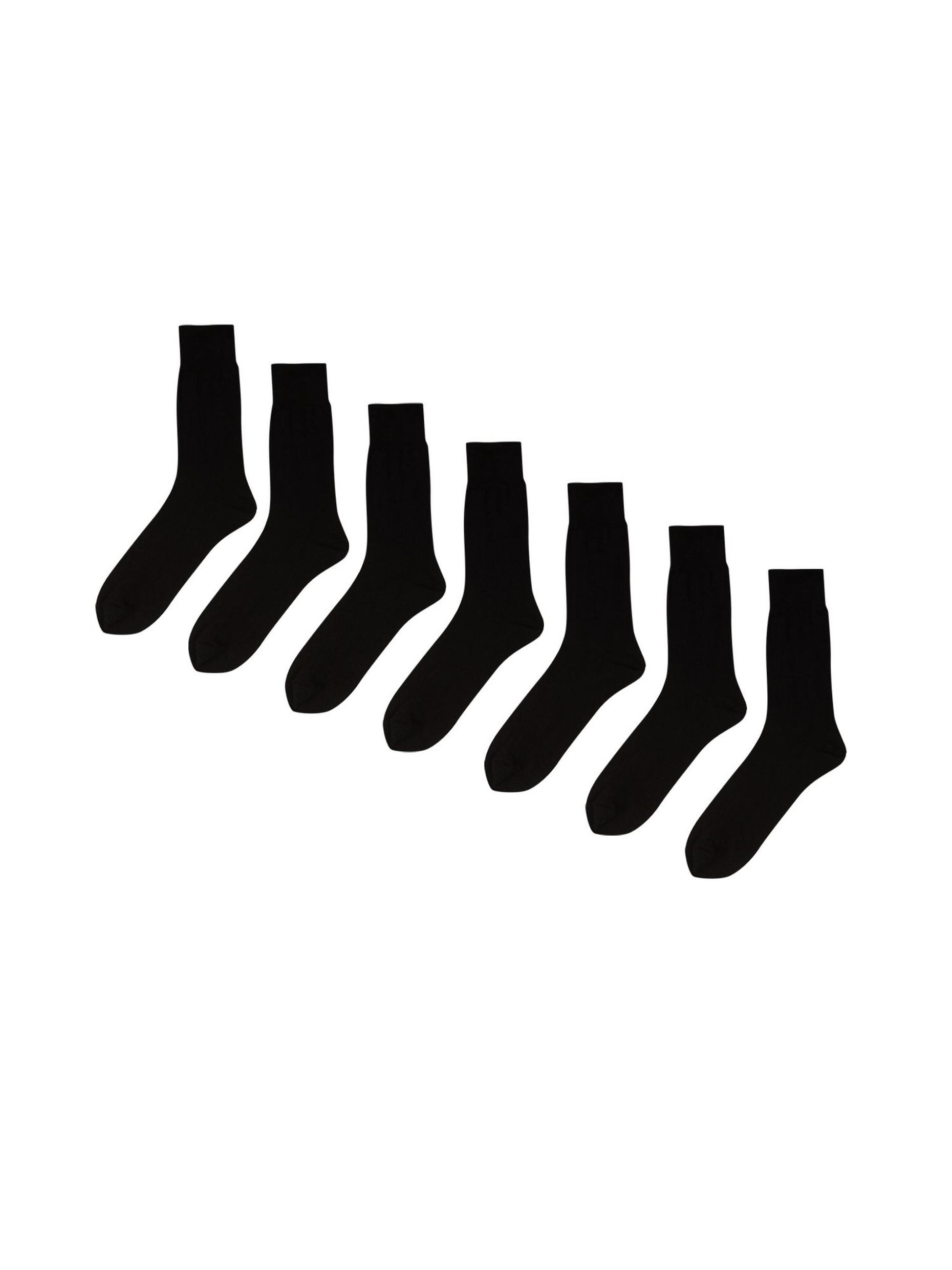 7 Pack Black Socks