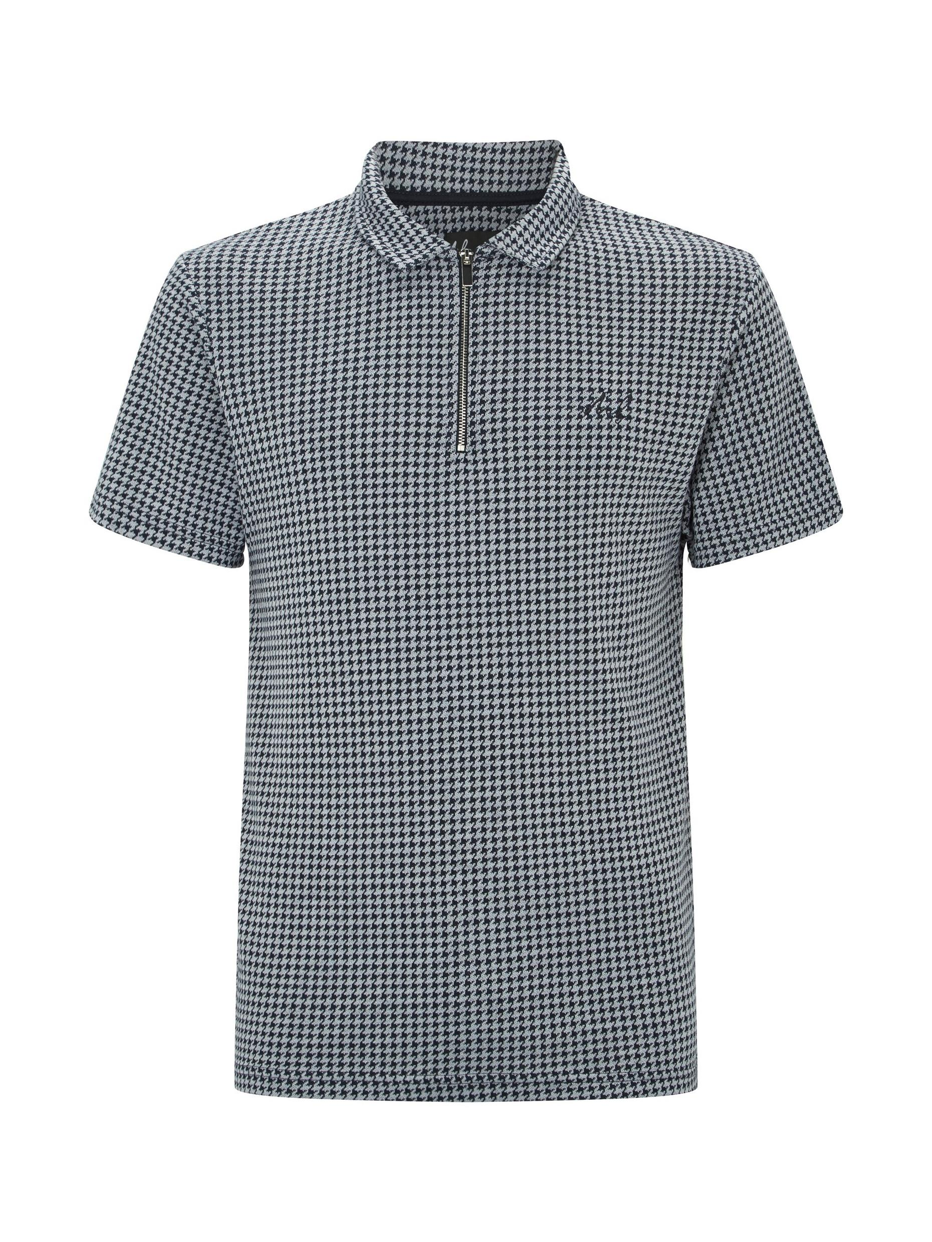 MB Collection Navy Puppytooth Polo