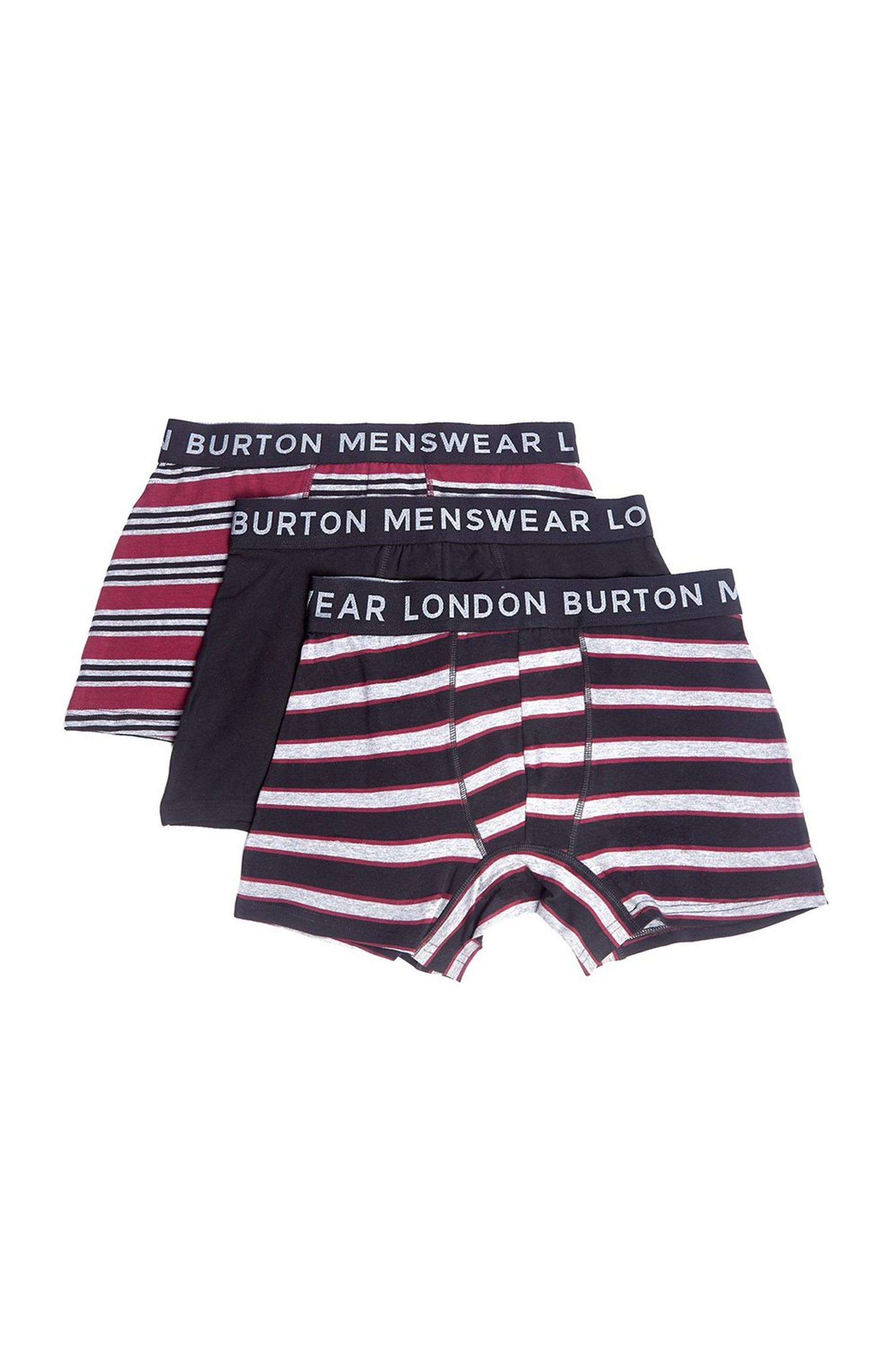 3 Pack Red Mutlistripe Trunks