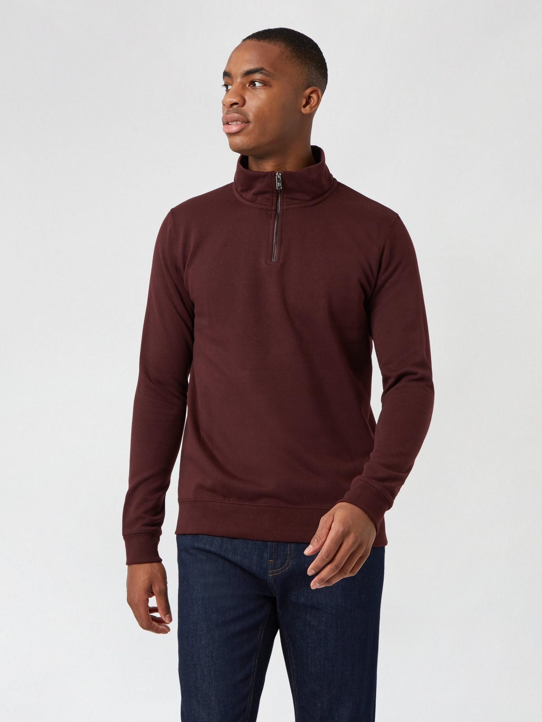 Burgundy Quarter Zip Funnel