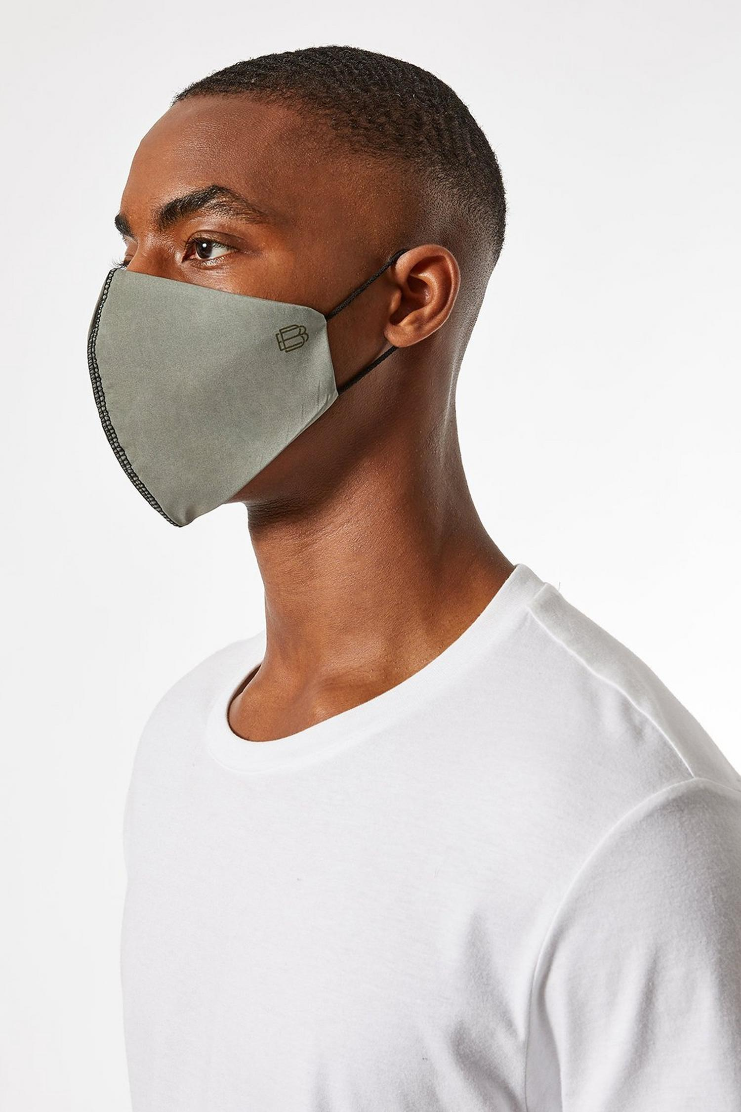 508 3 Pack Plain Reusable Face Coverings image number 2