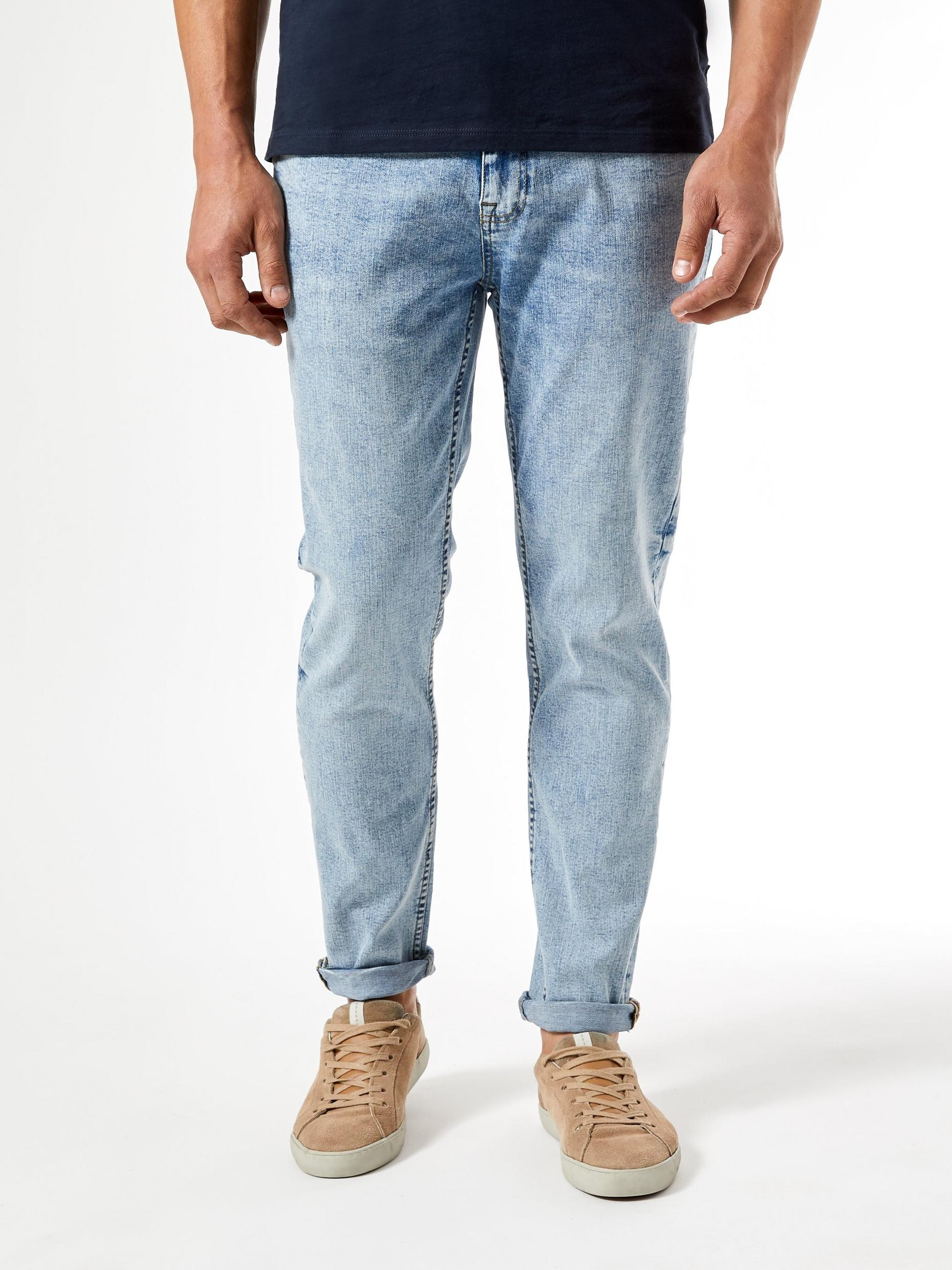 Tapered Vintage Light Wash Organic Jeans