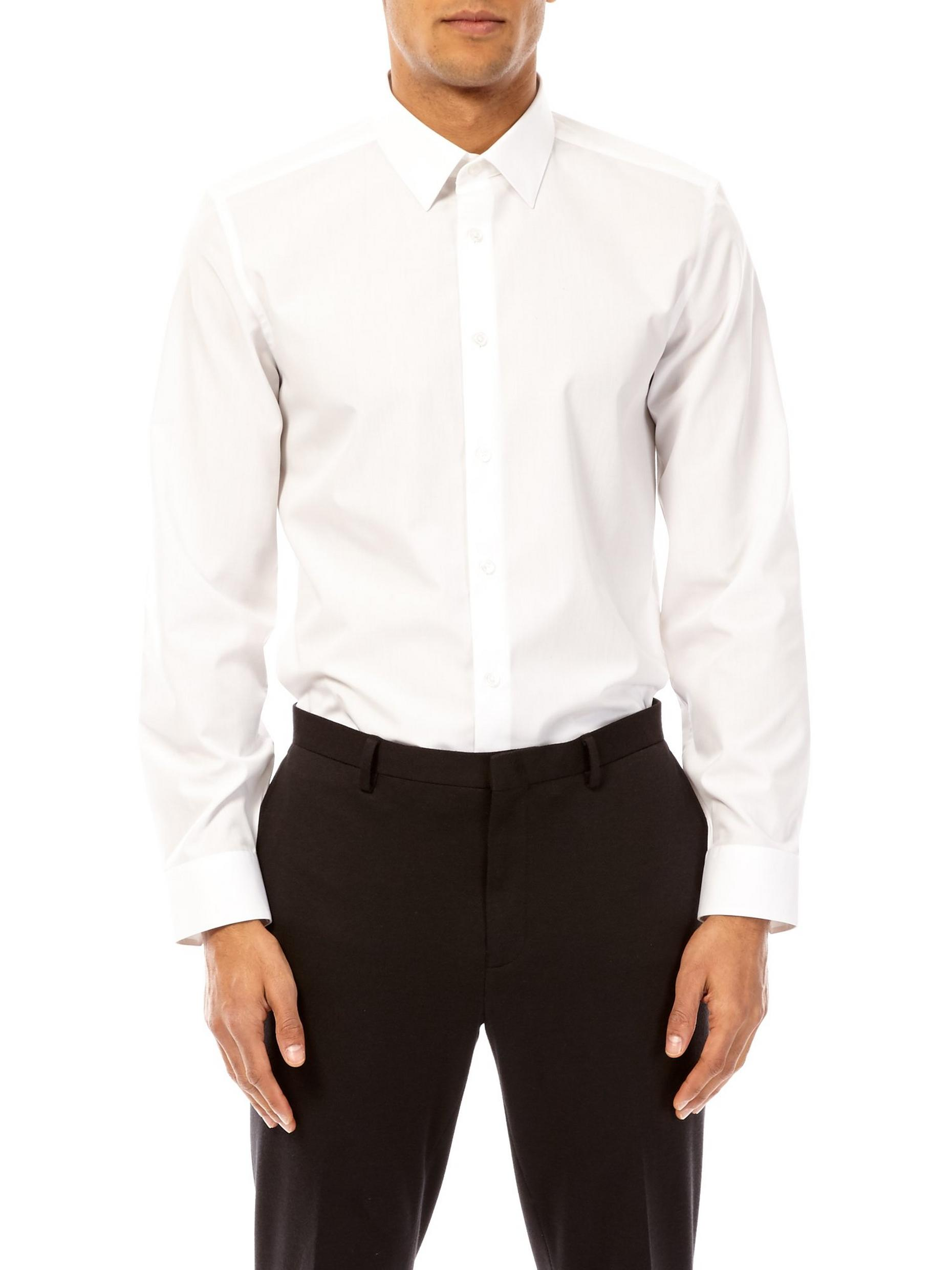 White Tailored Fit Easy Iron Shirt