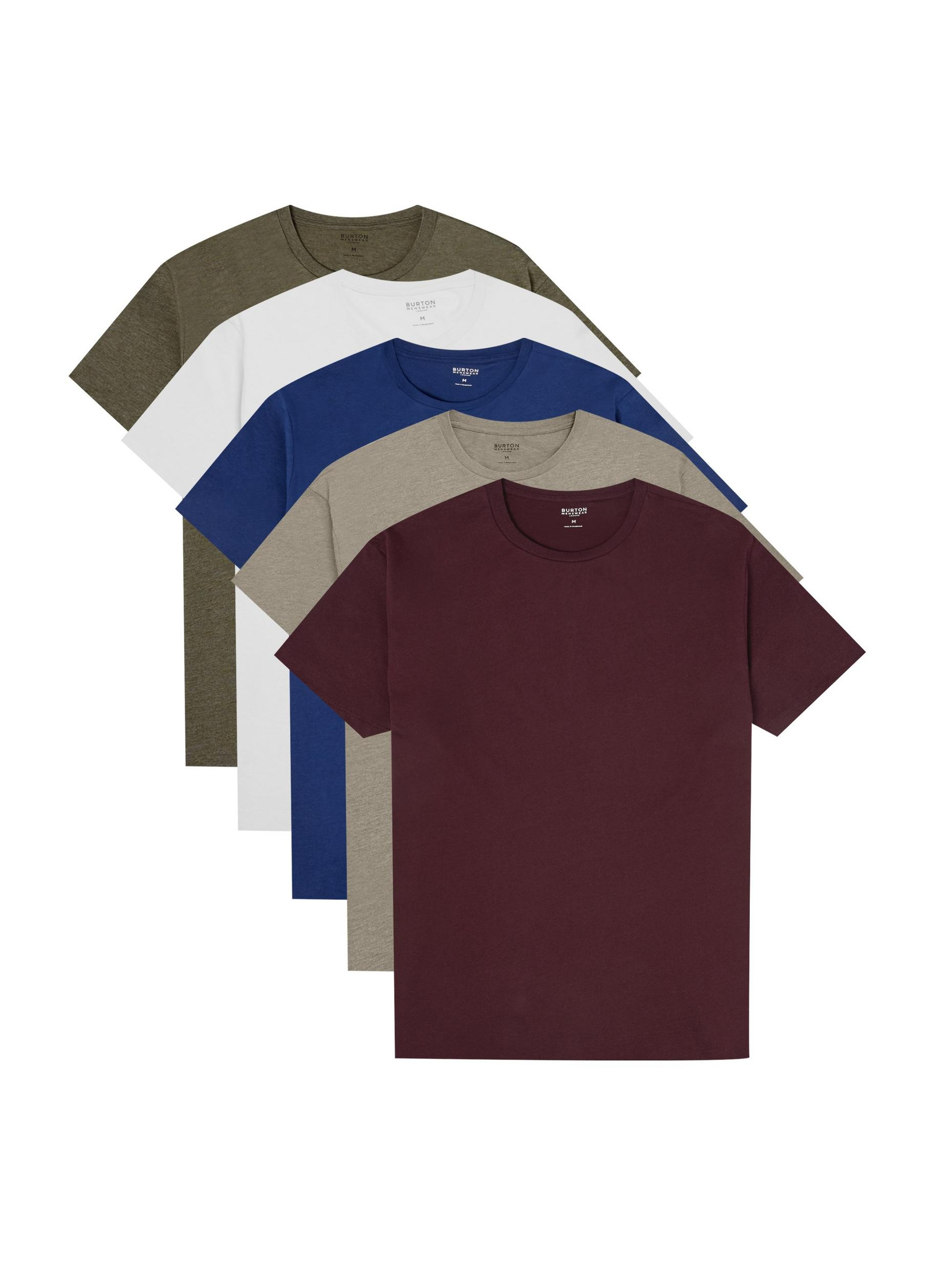5 Pack Burgundy; Stone; Indigo; Khaki and White Or