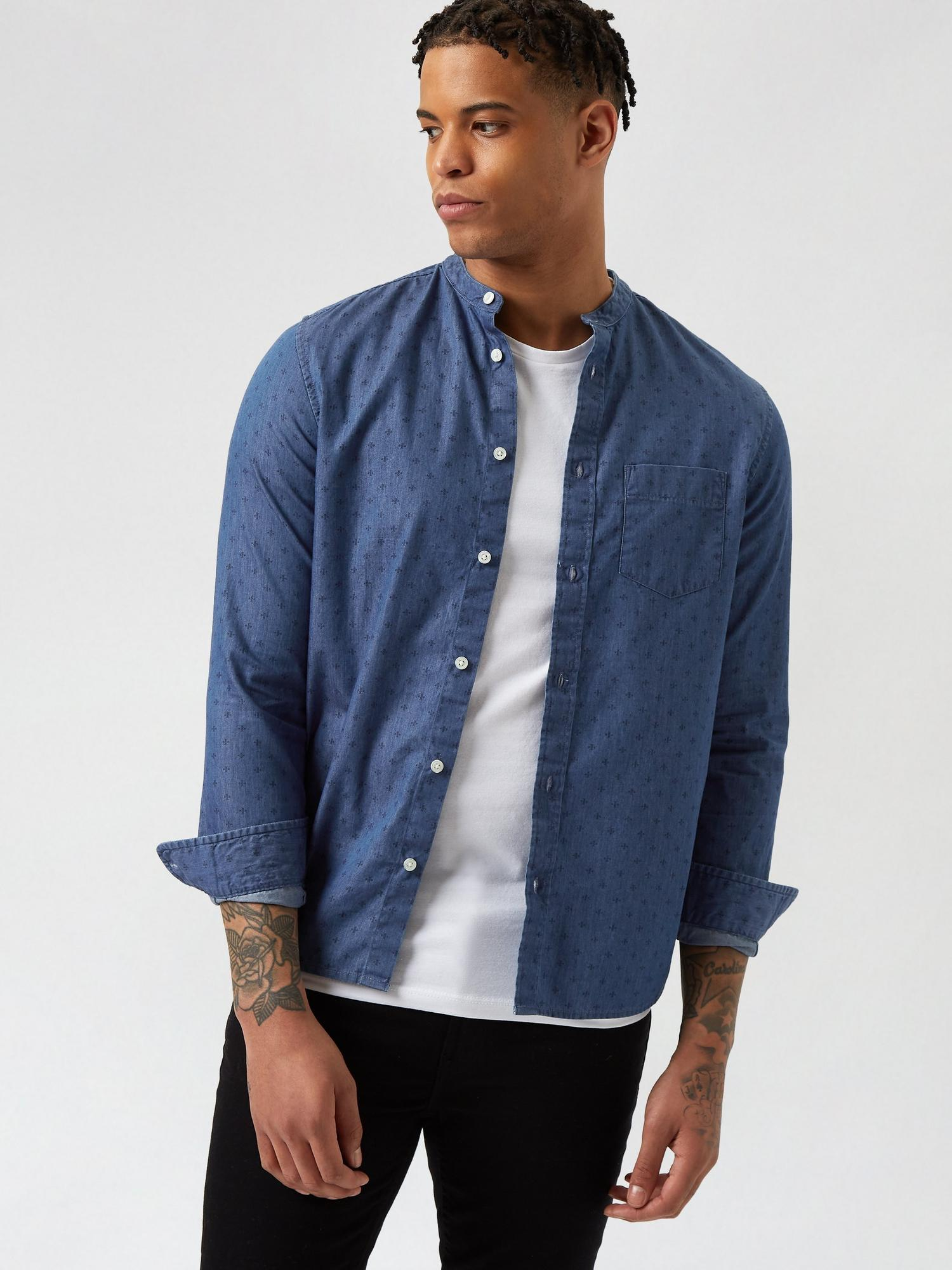 340 Denim Printed Shirt image number 1