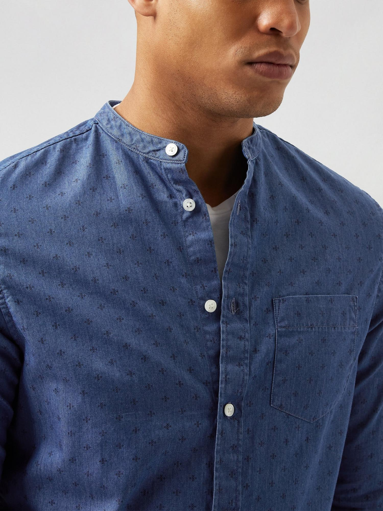 340 Denim Printed Shirt image number 4