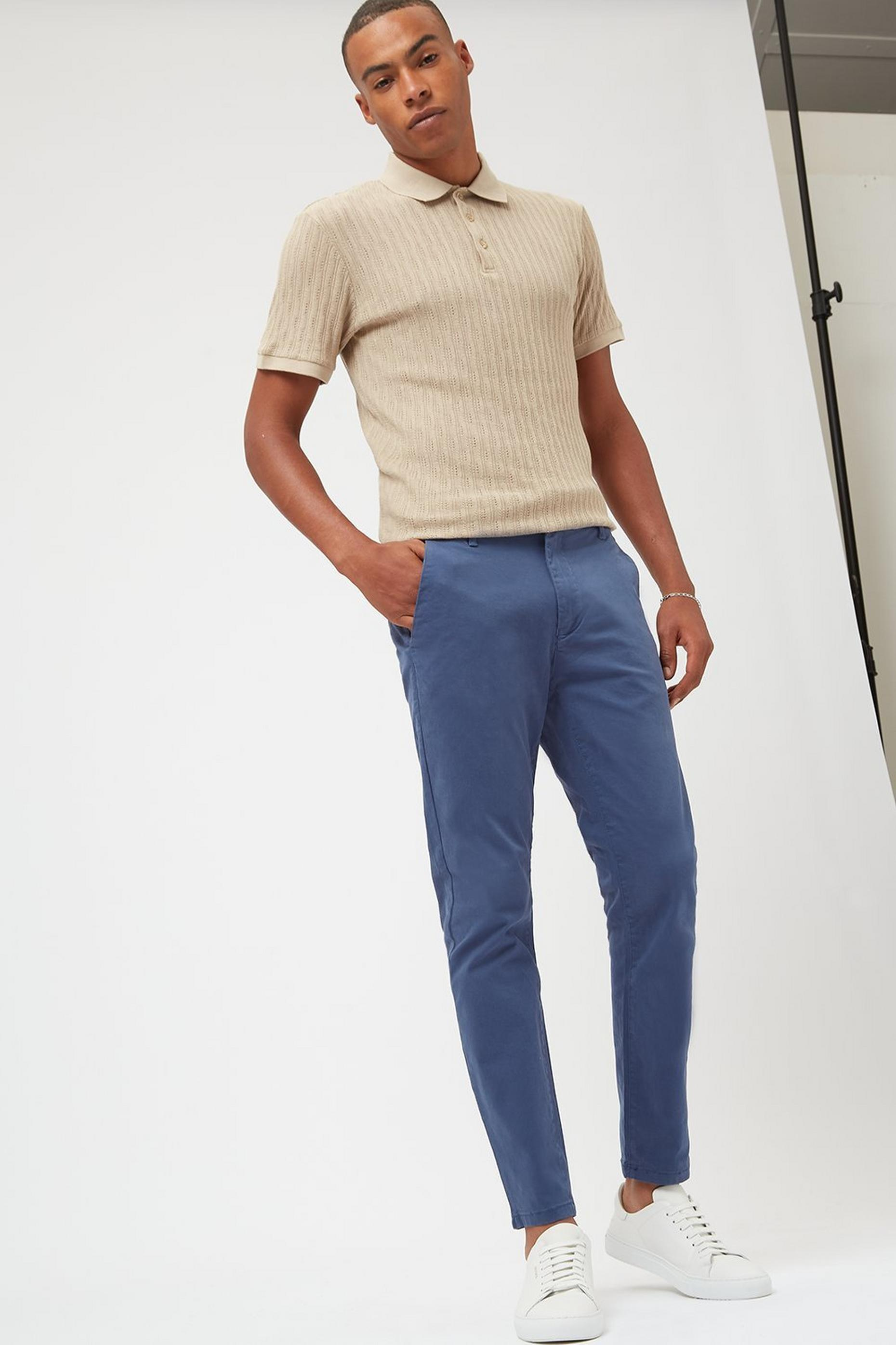 Blue Skinny Fit Denim Chinos OrgCotton