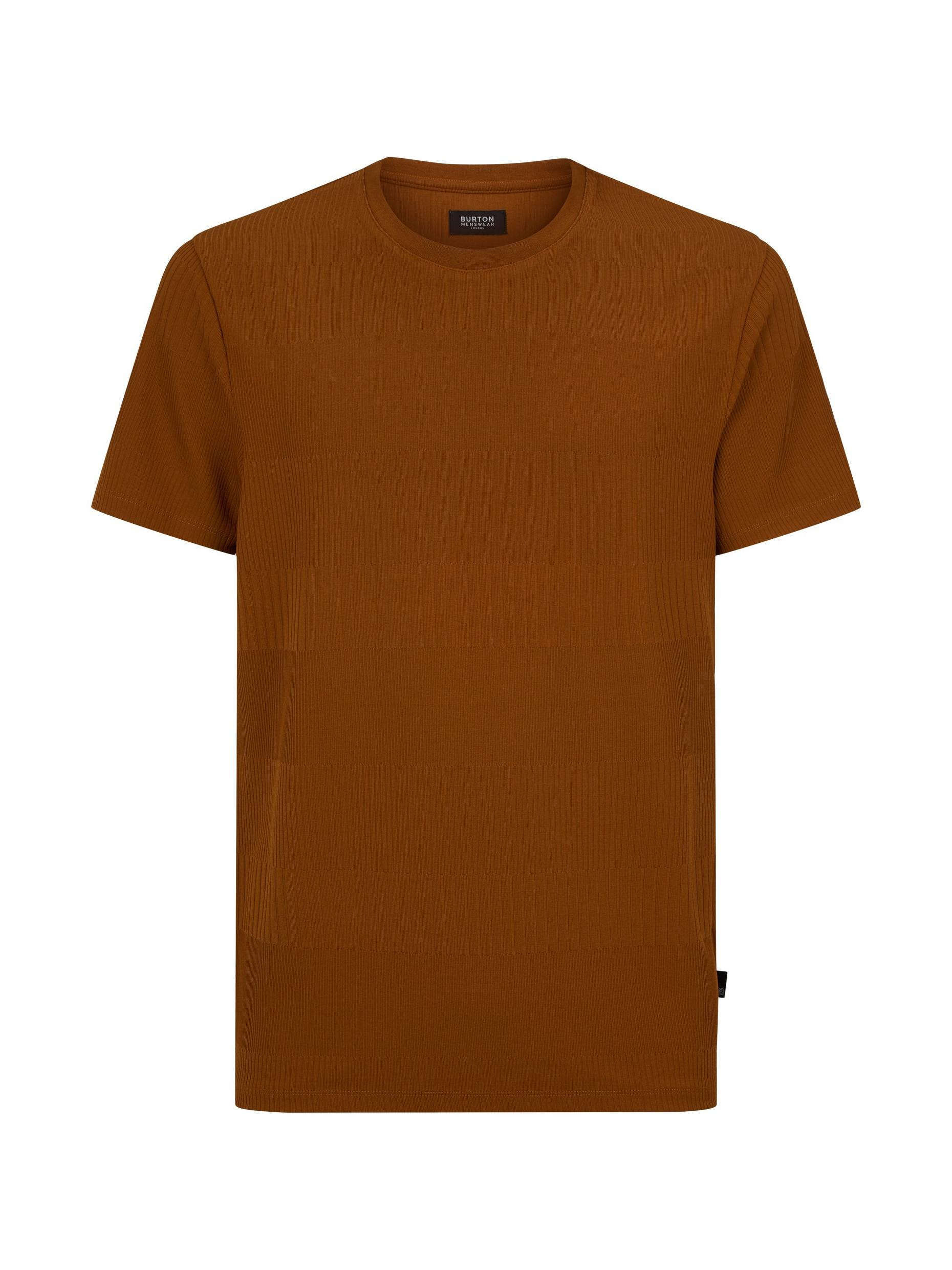 Tobacco Irregular Rib T-Shirt