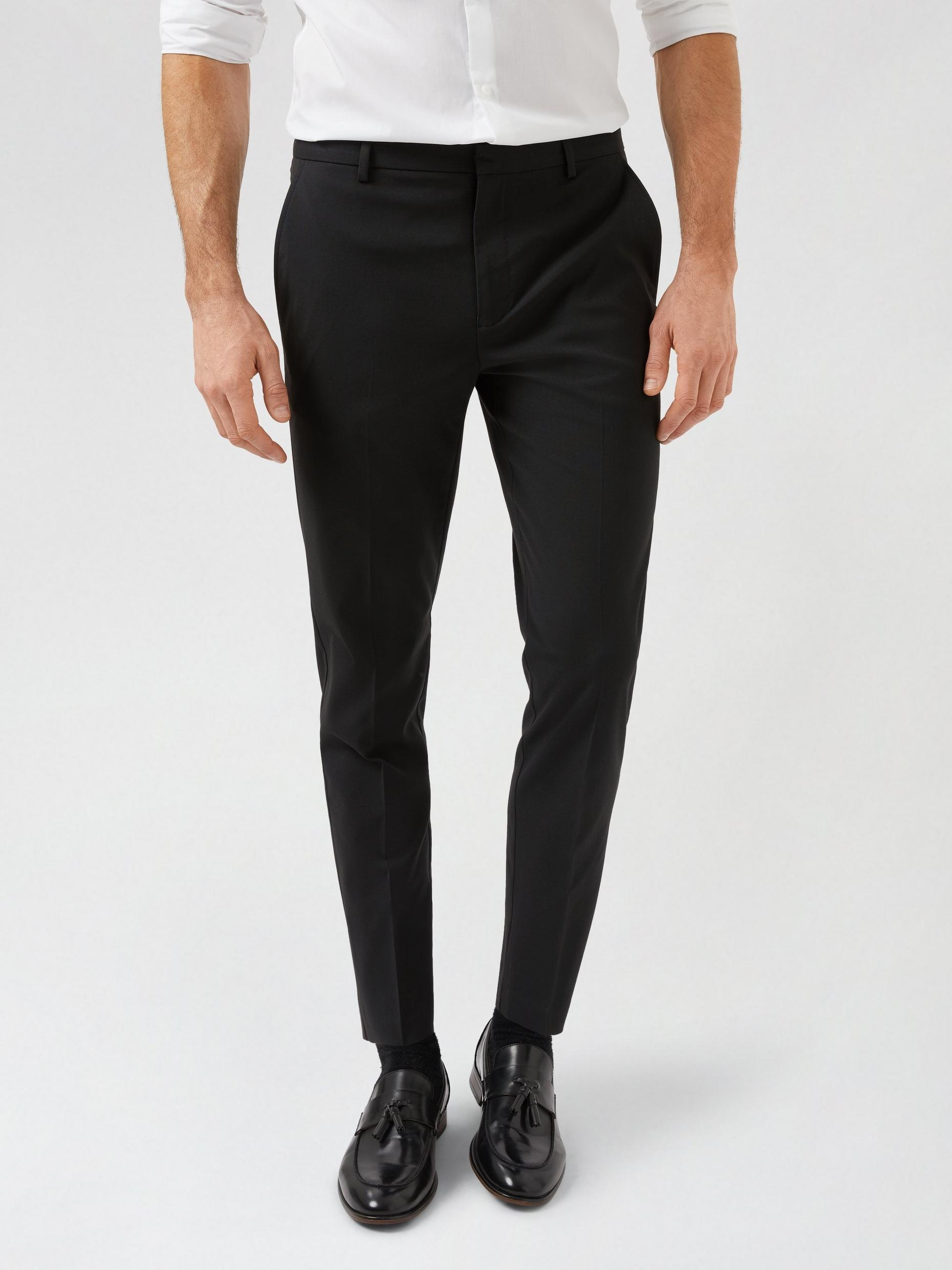 Black Skinny Fit Trousers With Recycled Polyester