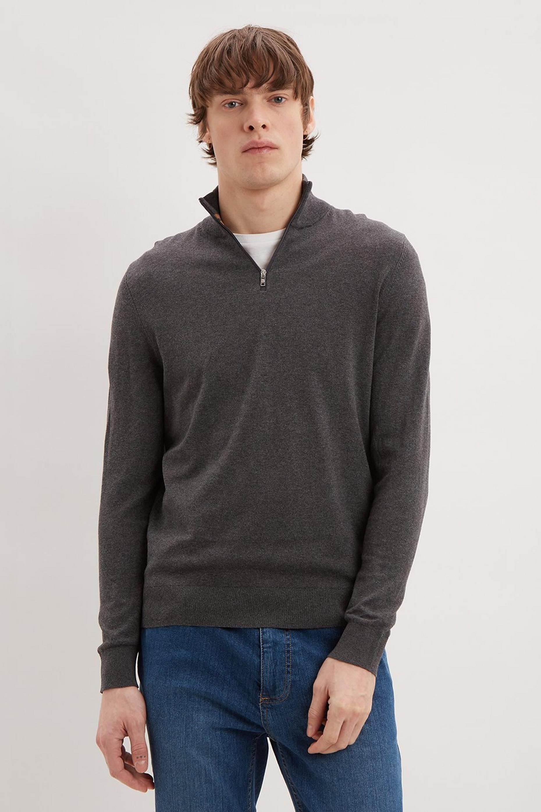 Half Zip Jumper With Organic Cotton