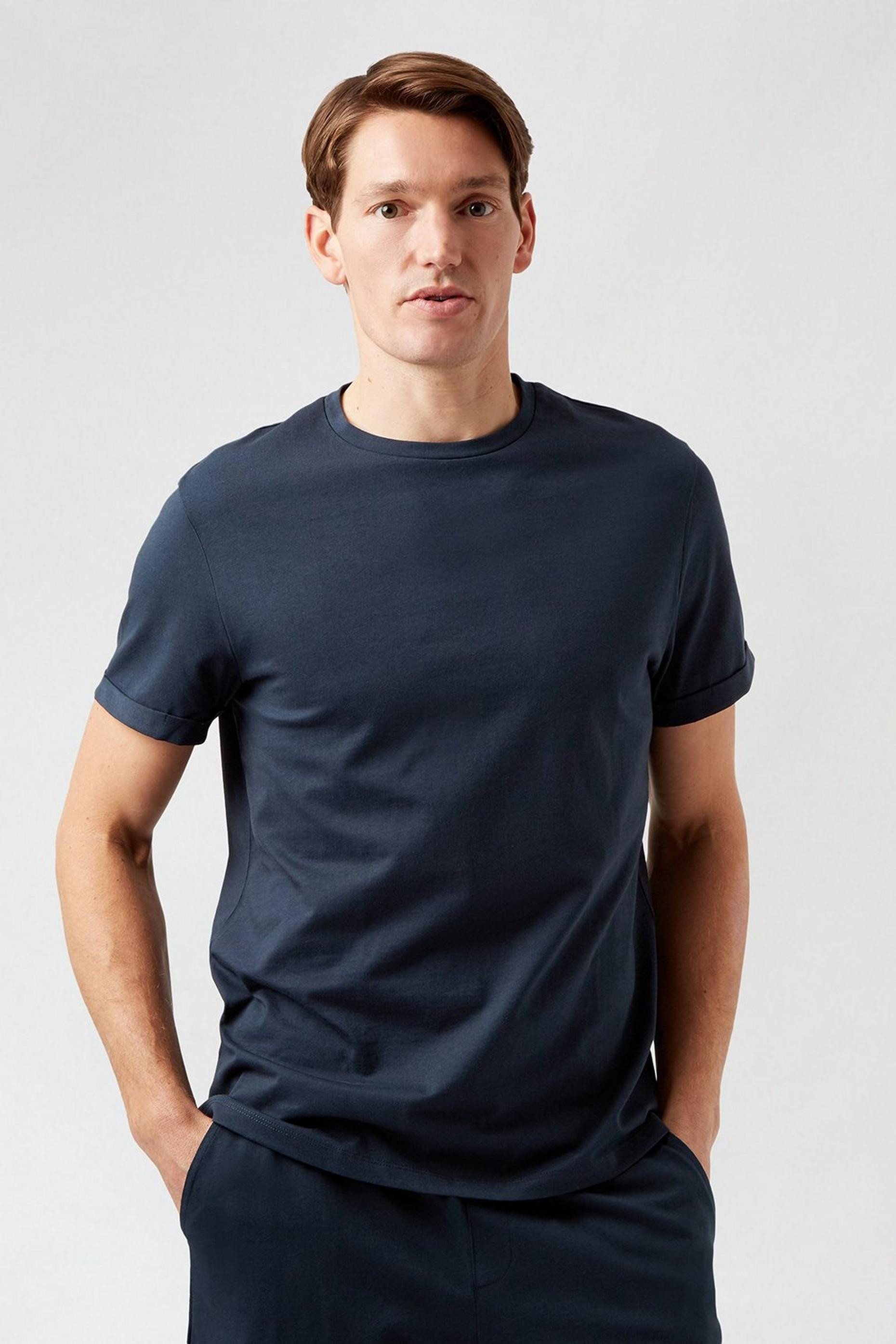 Navy Short Sleeve TShirt And Shorts