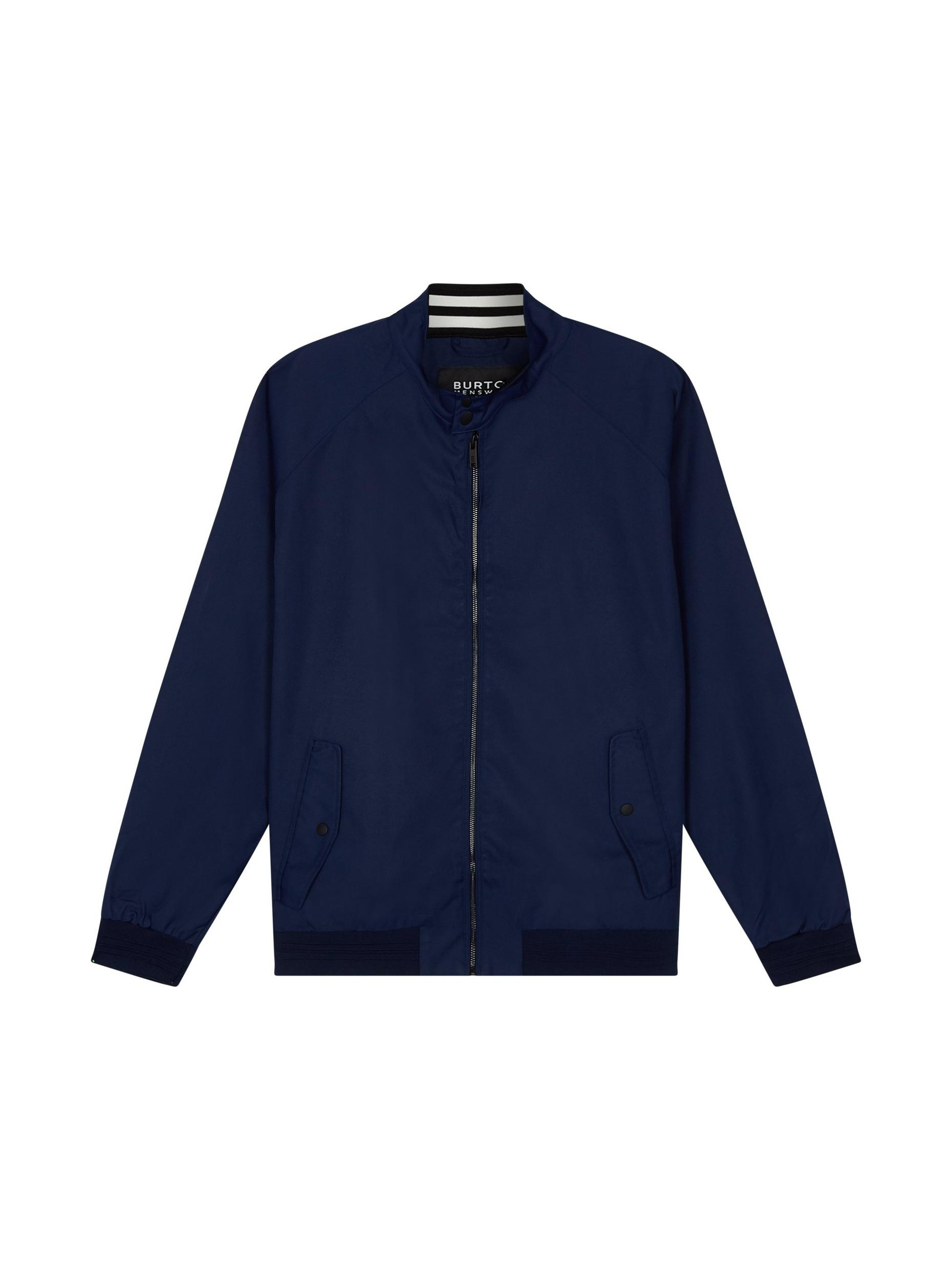 Plus and Tall Indigo Harrington Jacket