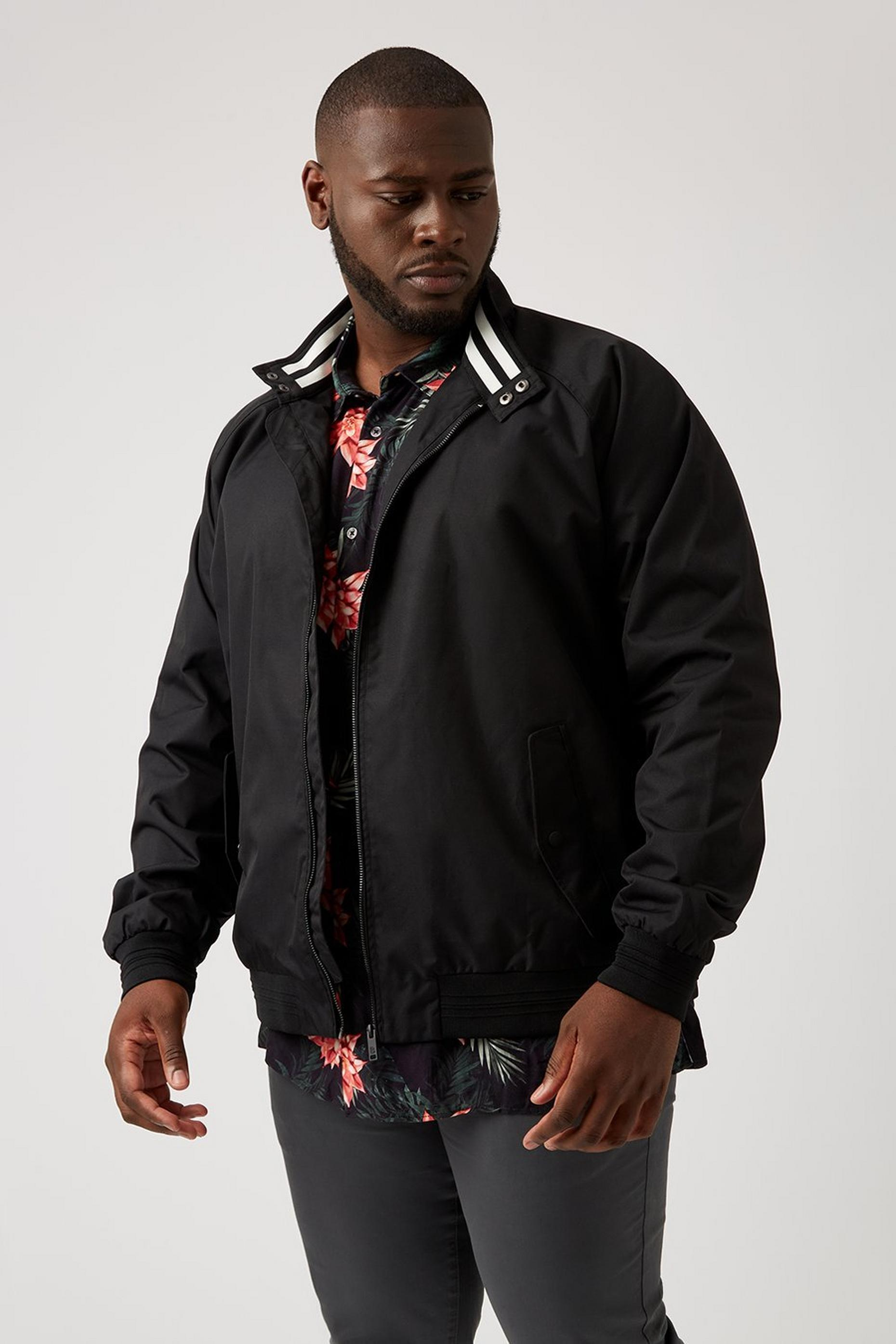 Plus and Tall Black Harrington Jacket