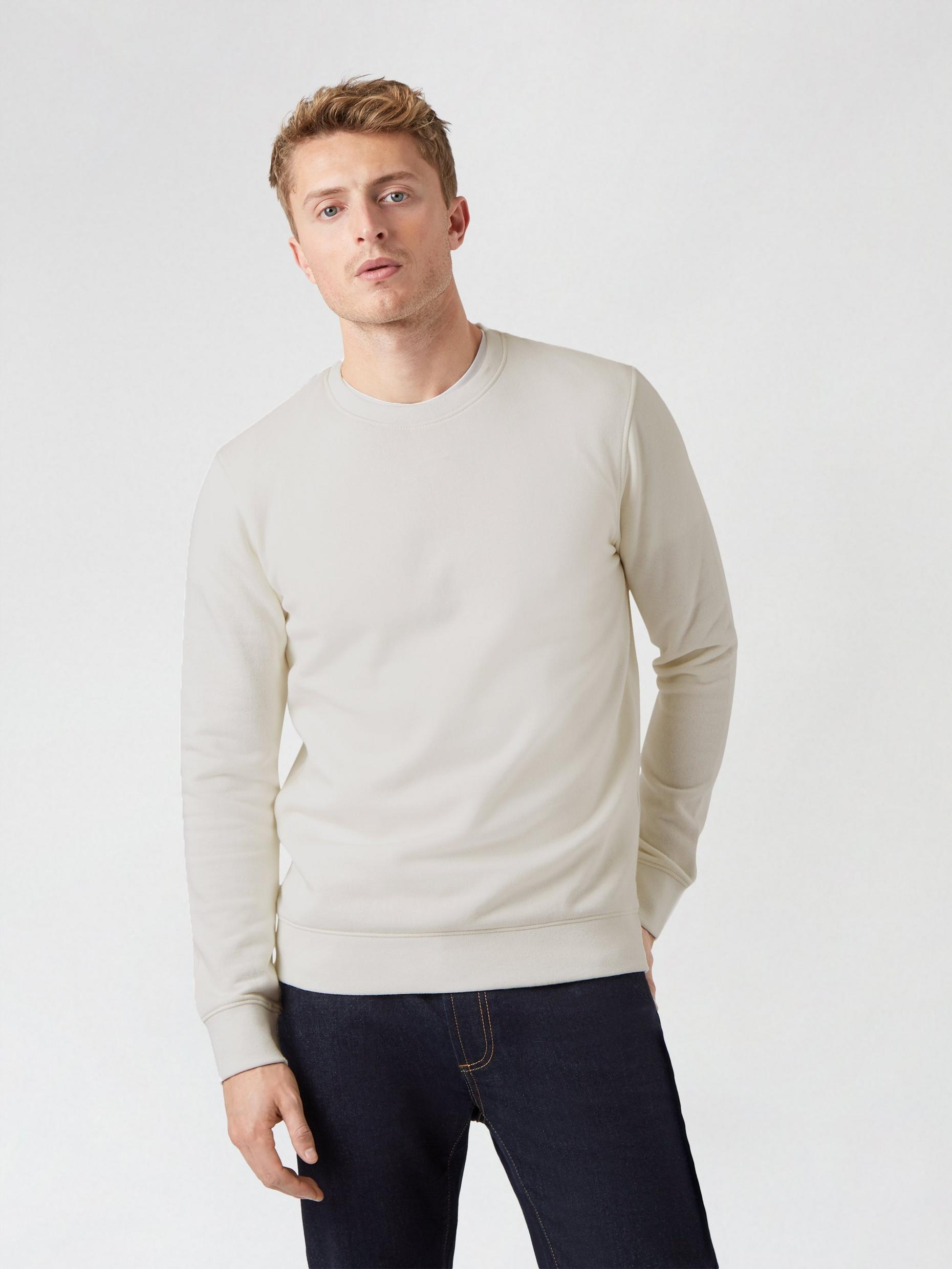 Ecru Muscle Fit Sweatshirt
