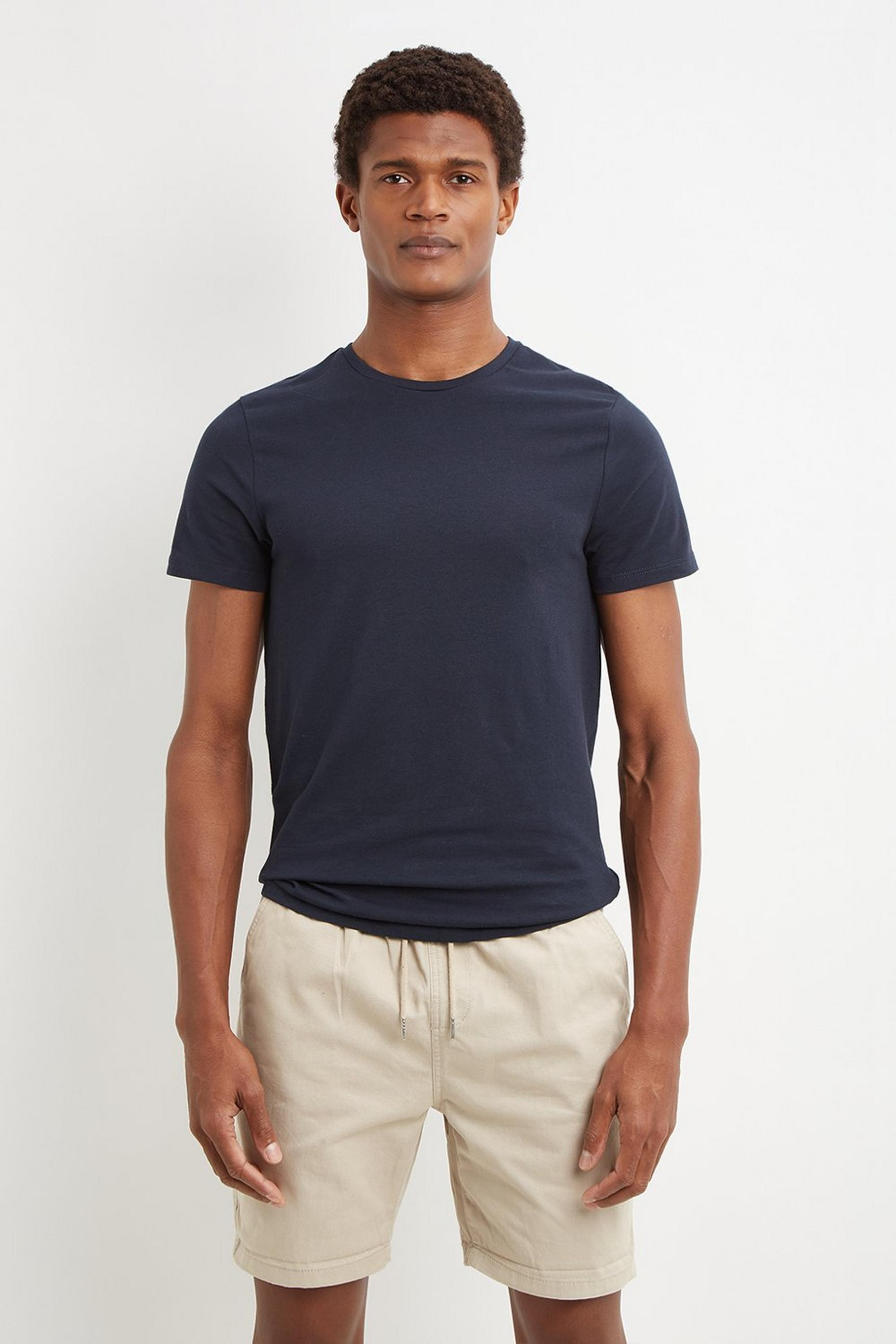 Navy Muscle Fit Short Sleeve TShirt