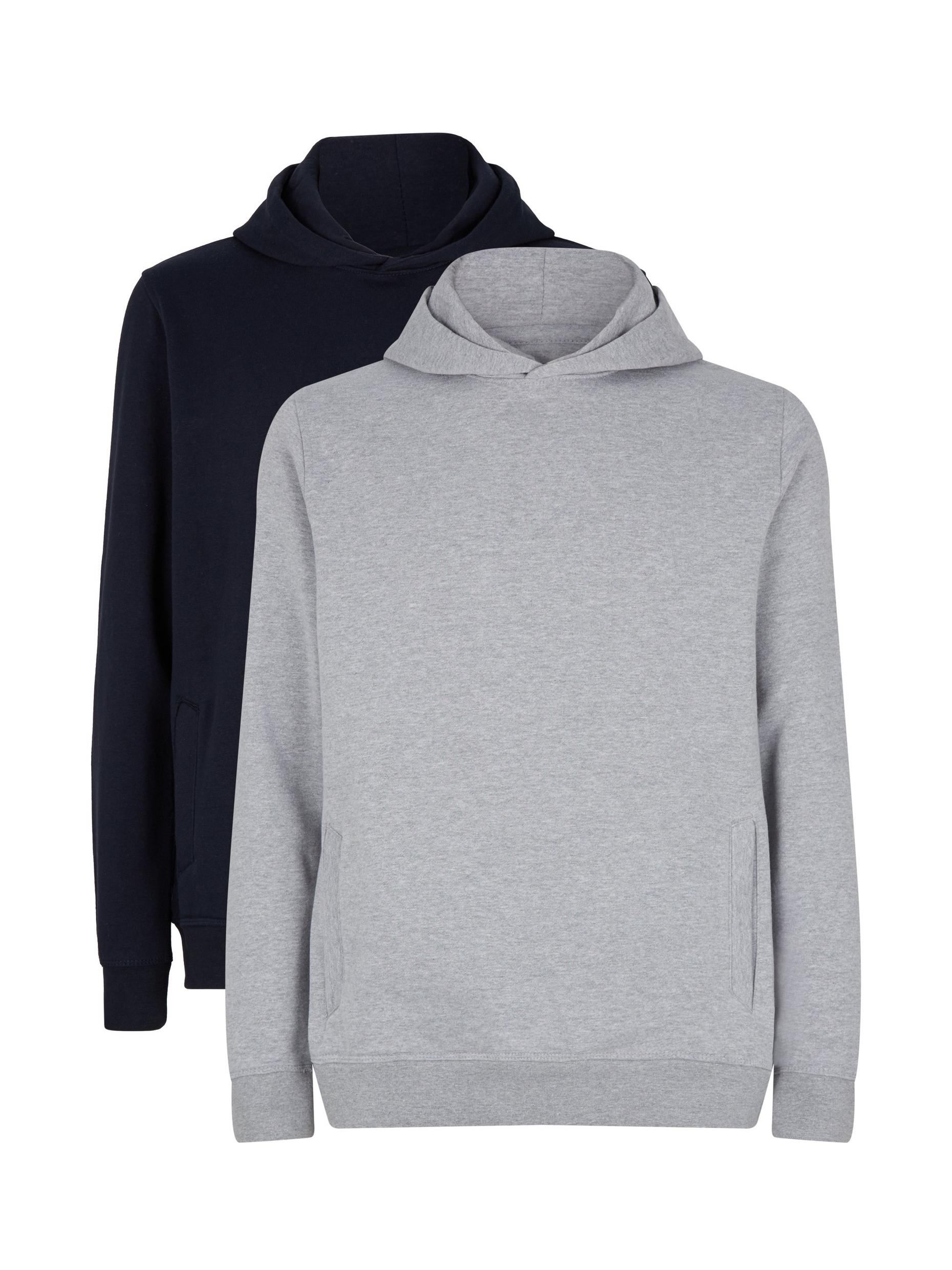 2 Pack Grey and Navy Hoodie