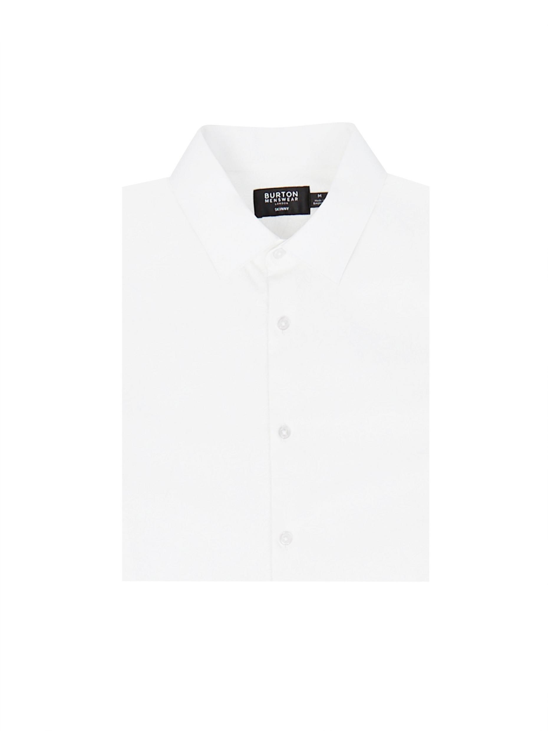 White On White Skinny Fit Shirt