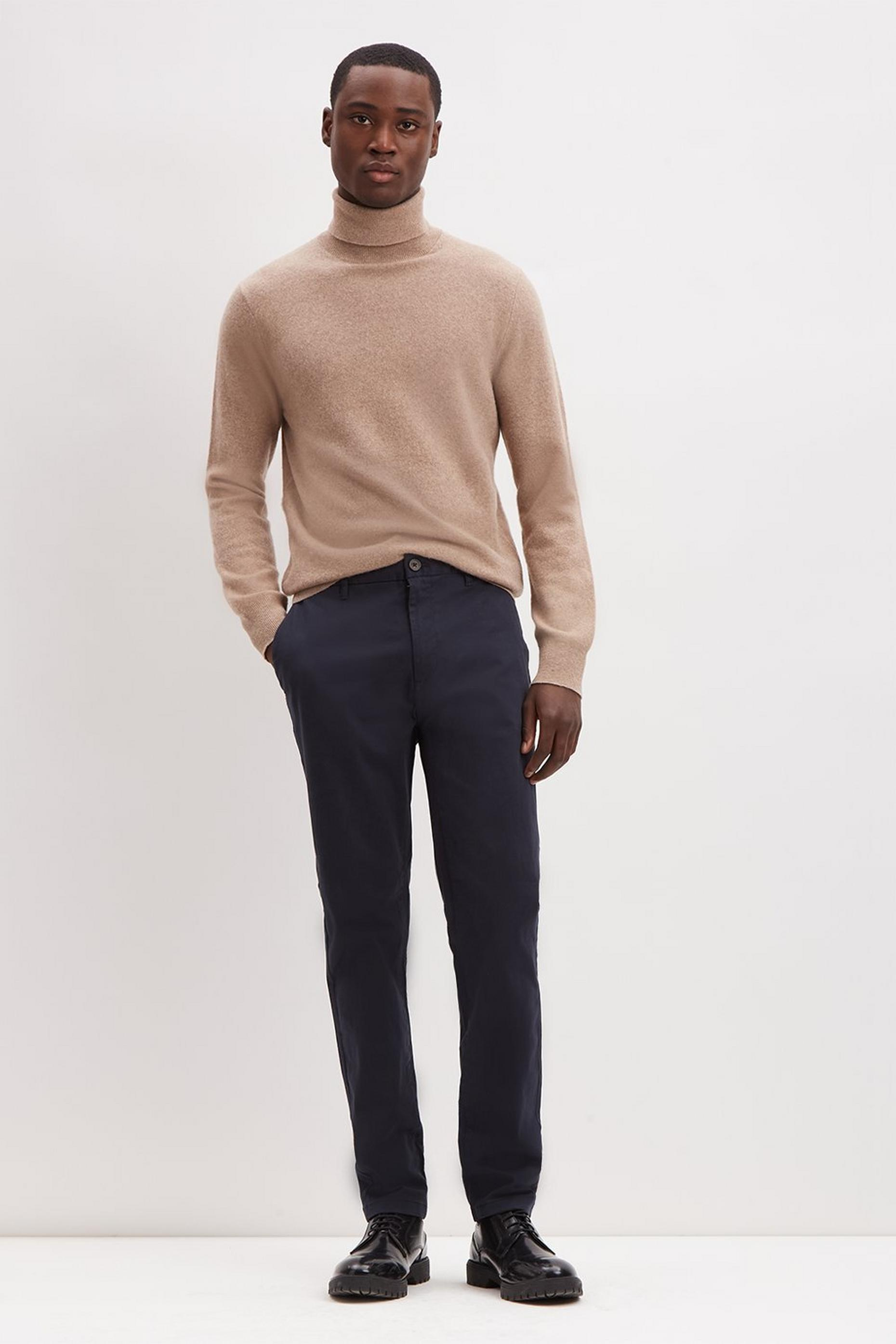Navy Skinny Fit Chinos With Organic Cotton