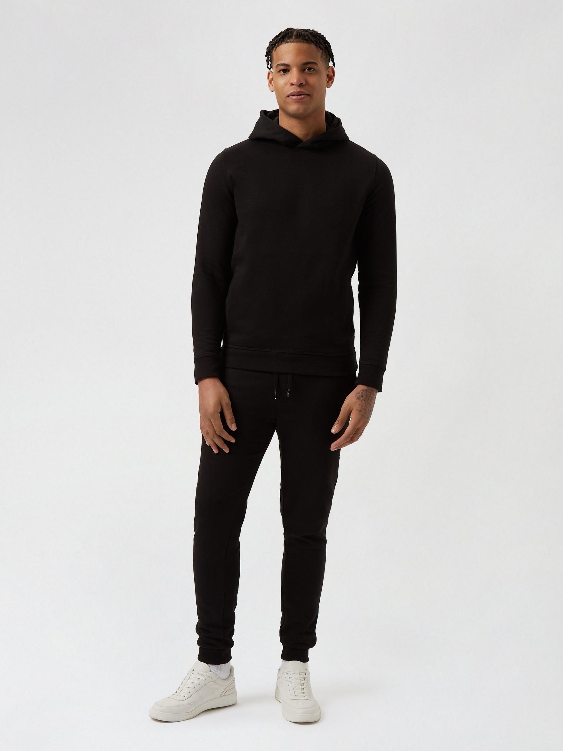 Black Overhead Hoodie and Joggers Set