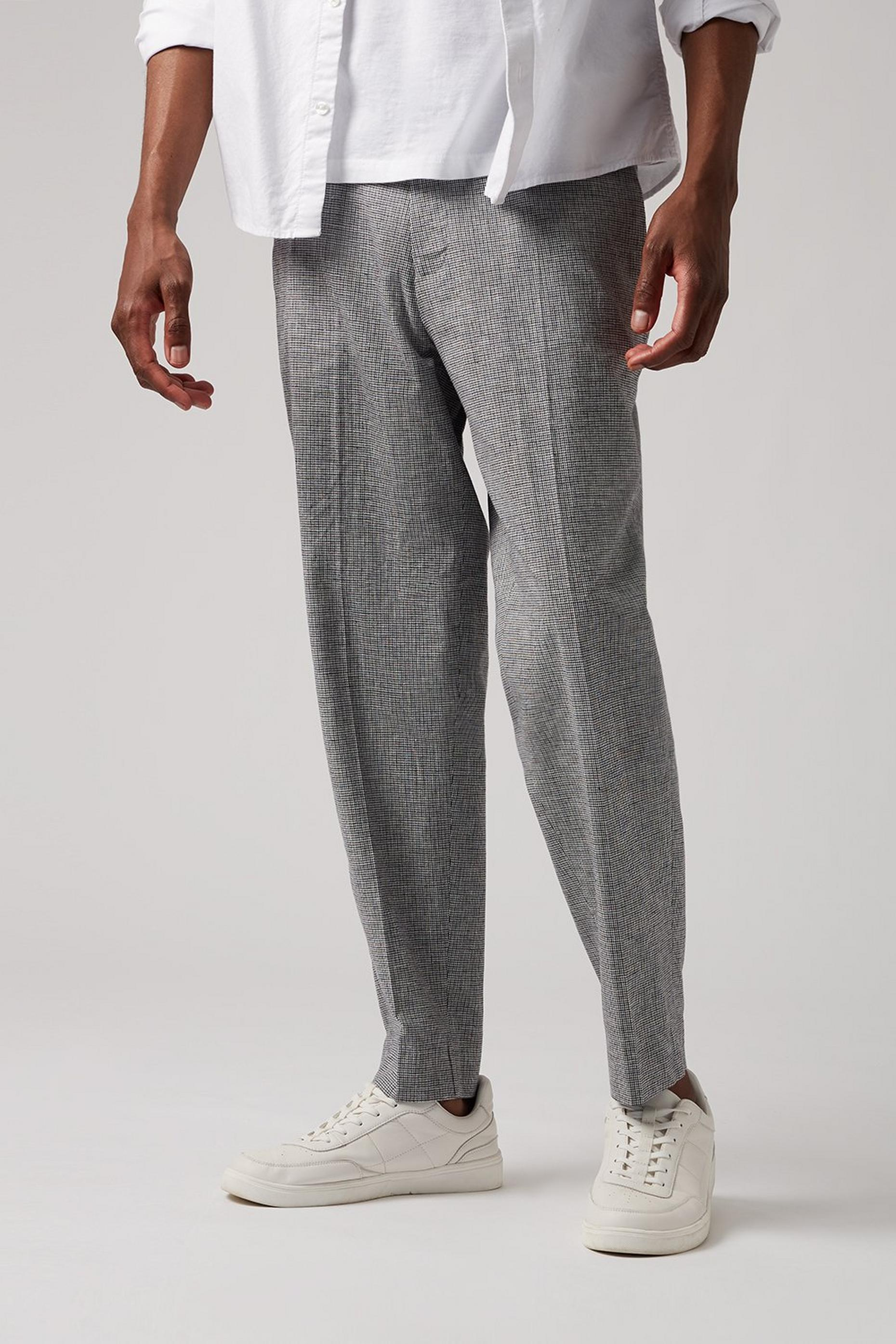 Tapered Fit Dogtooth Trouser