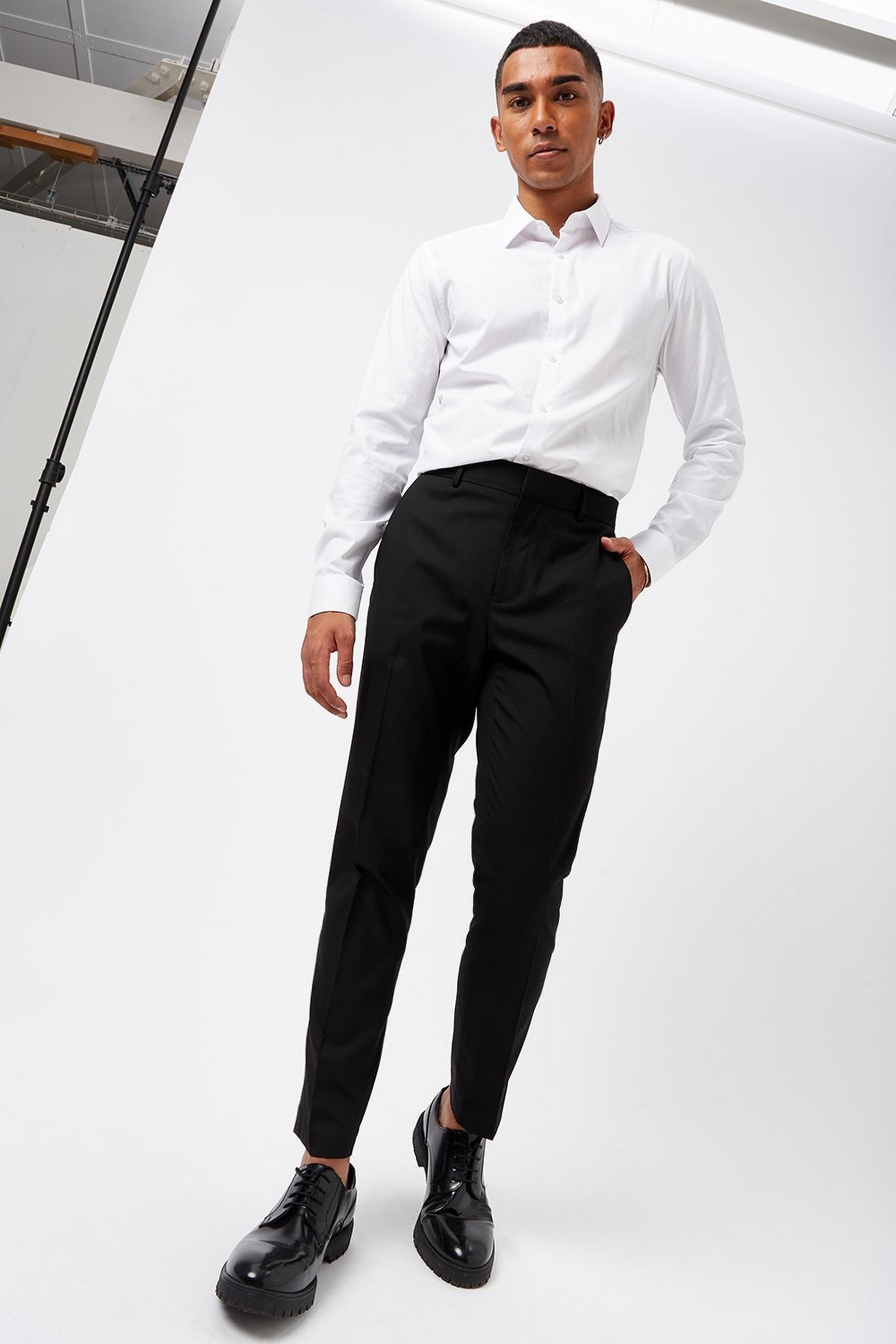 Black Essential Skinny Fit Suit Trousers