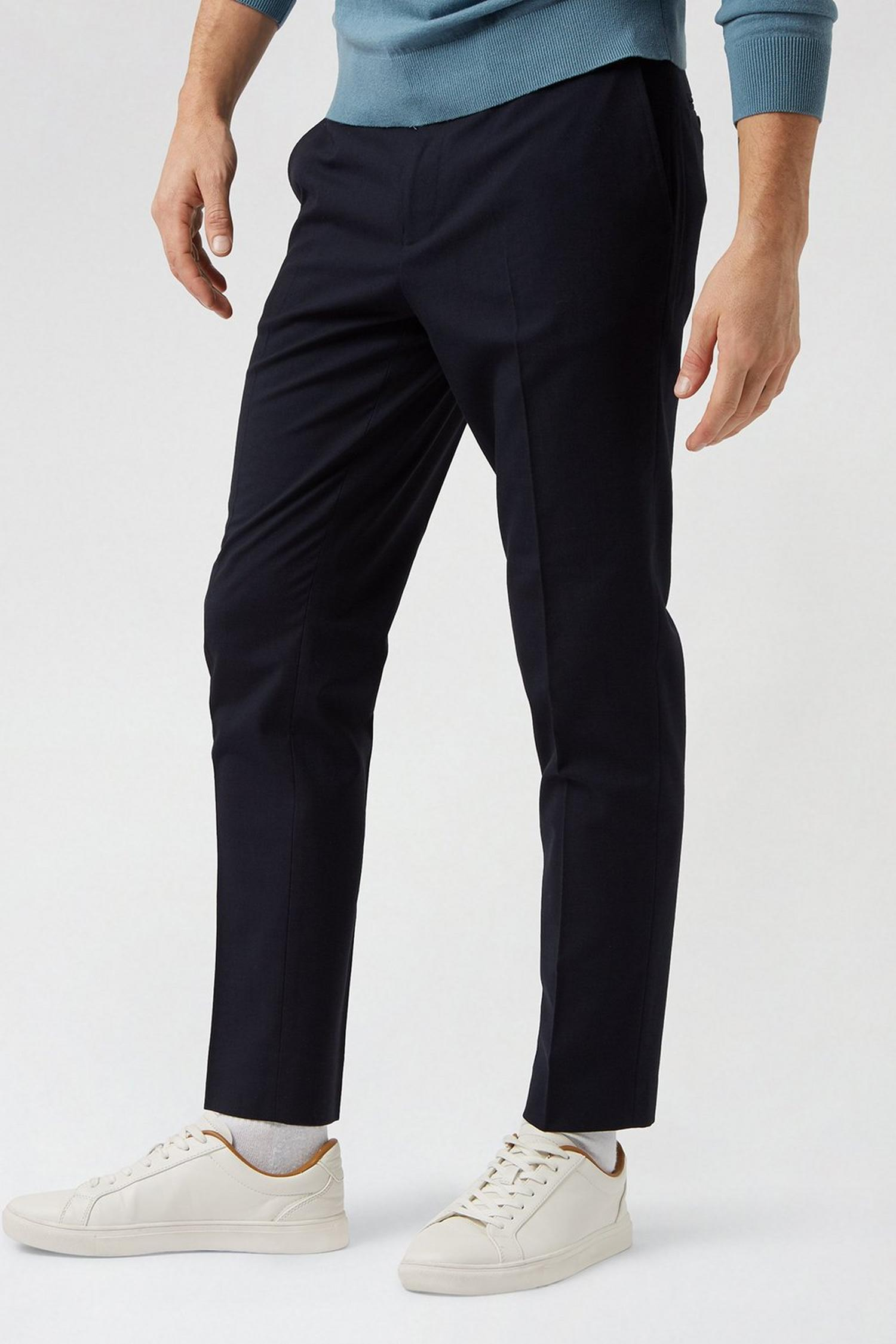 148 Navy Essential Skinny Fit Suit Trousers image number 1