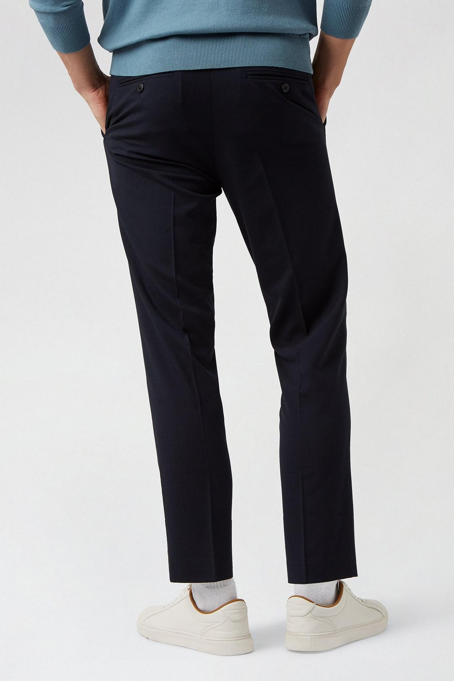 148 Navy Essential Skinny Fit Suit Trousers image number 3