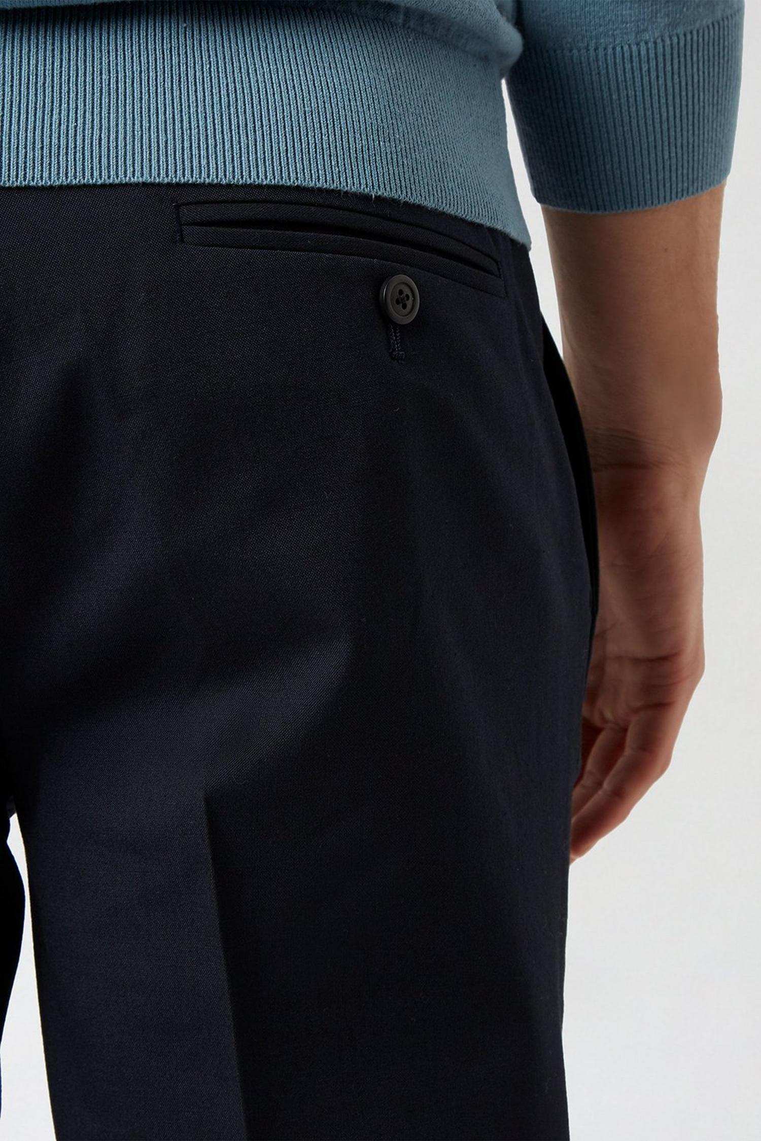 148 Navy Essential Skinny Fit Suit Trousers image number 4