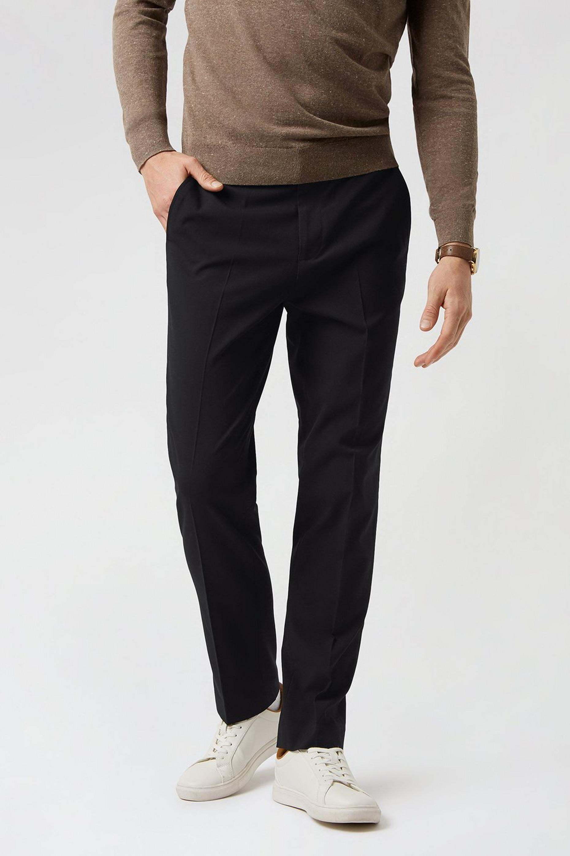 Black Essential Eco Slim Fit Suit Trousers