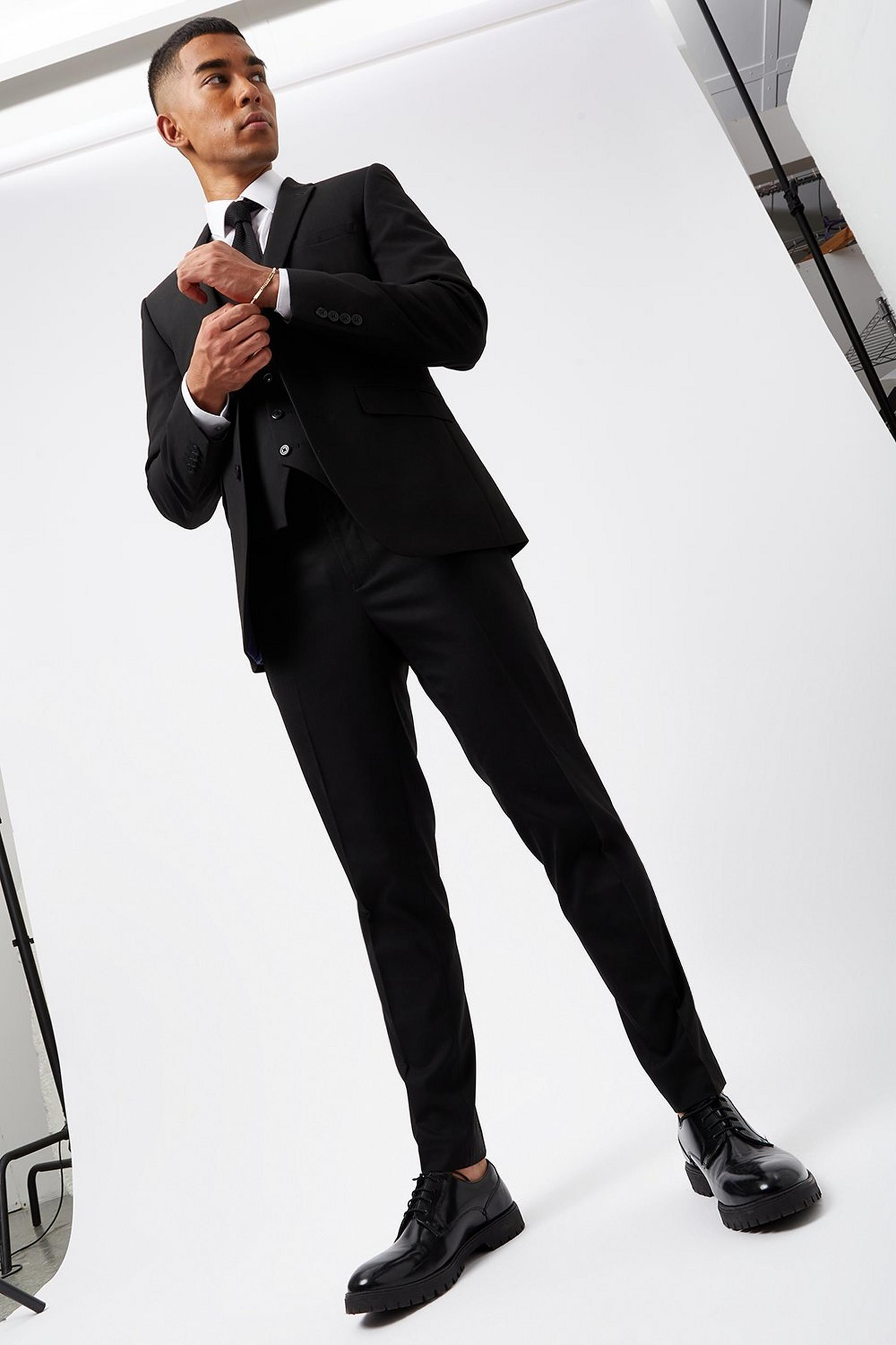Black Essential Skinny Fit Suit Jacket