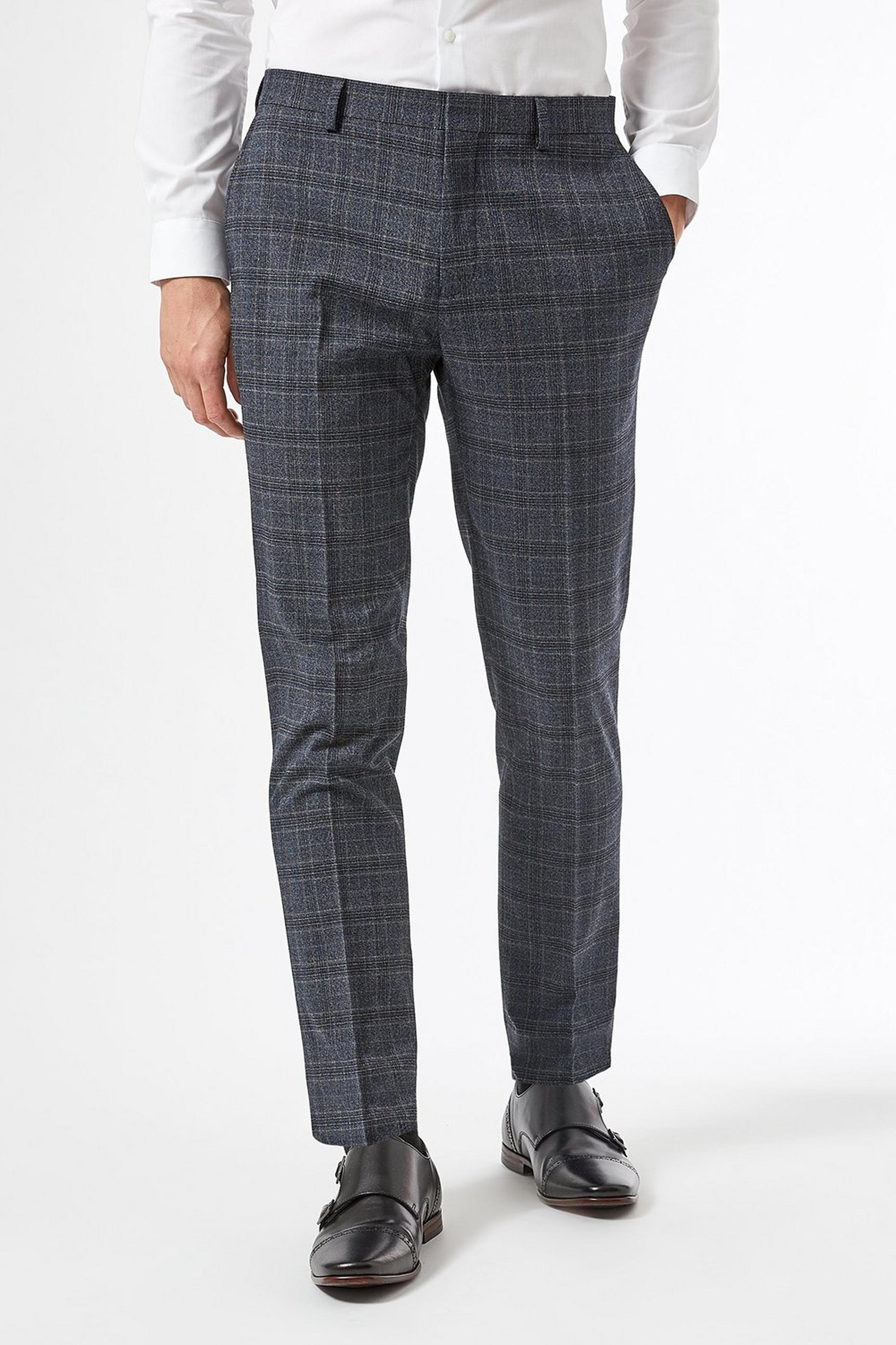 Slim Fit Russet Pow Check Suit Trouser