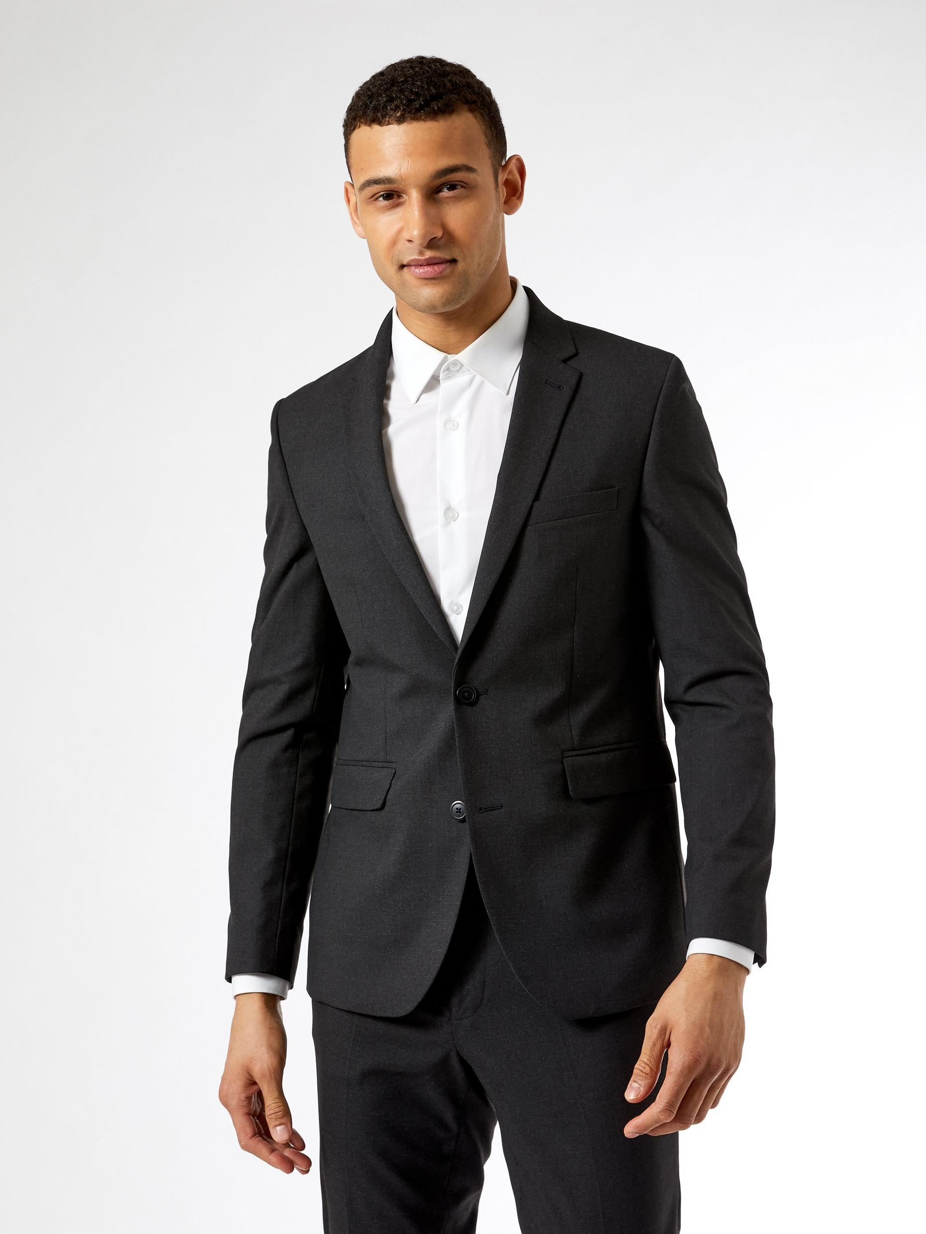 Charcoal Essential Skinny Fit Suit Jacket