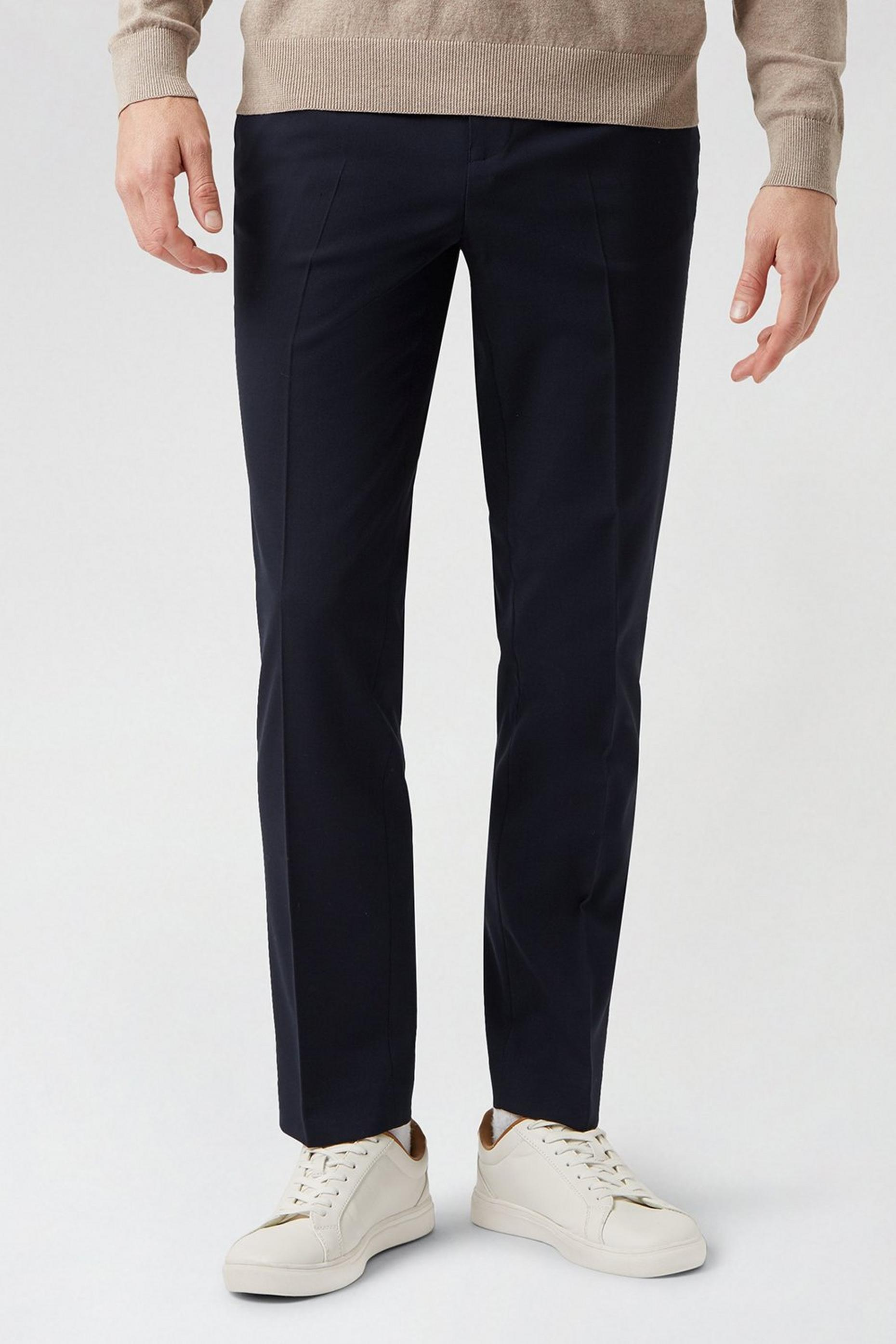 Navy Essential Eco Slim Fit Suit Trousers