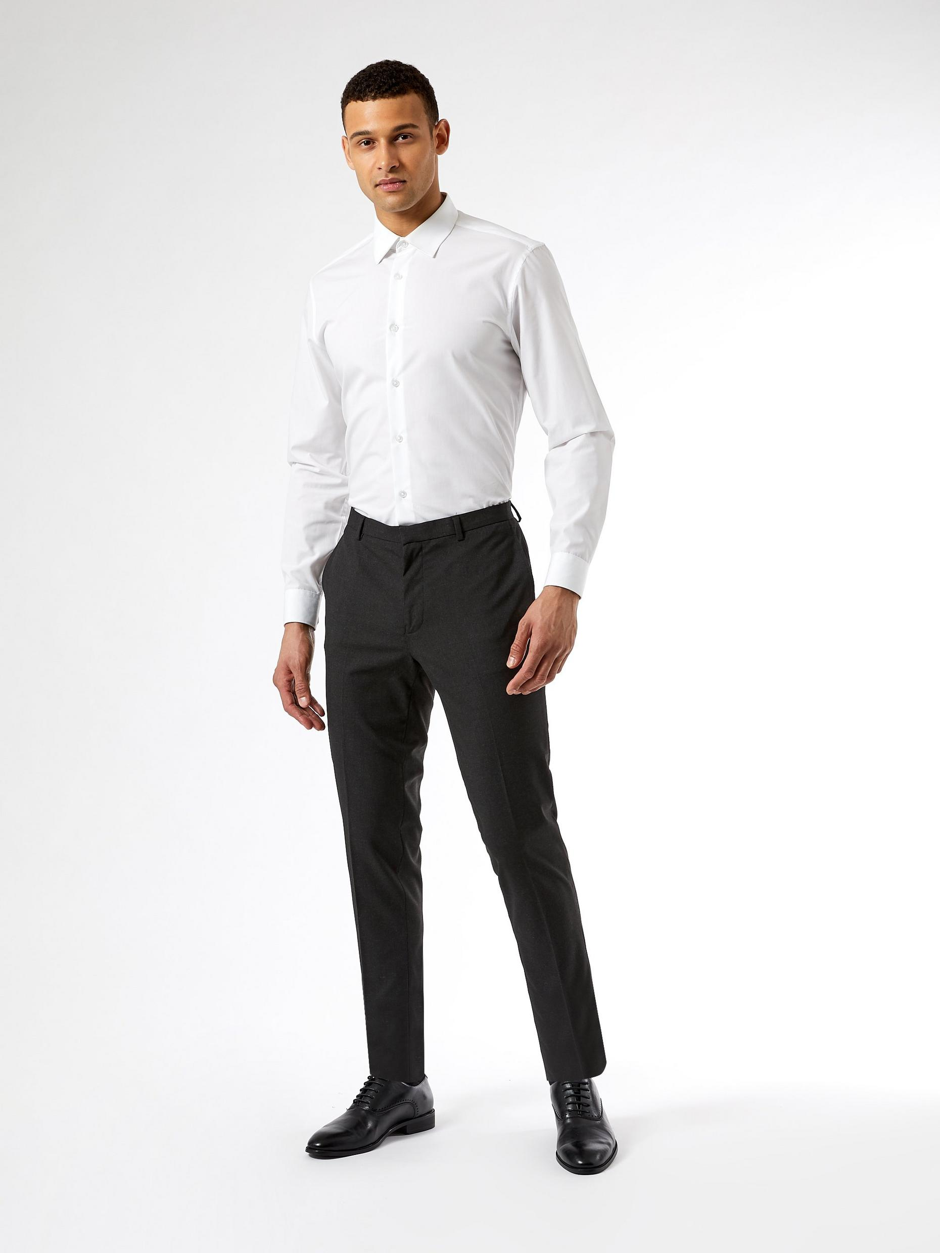 Skinny Charcoal Suit Trousers