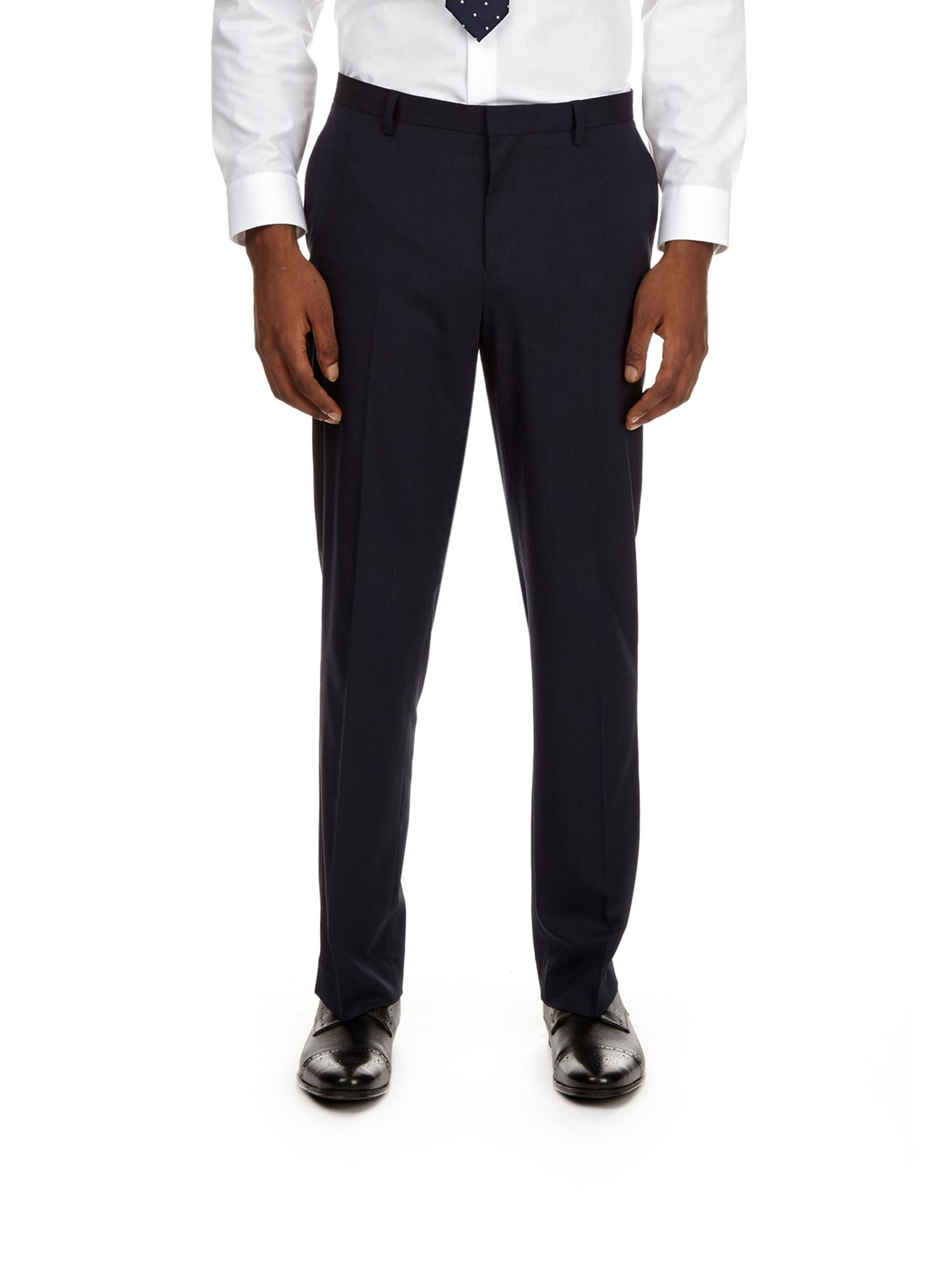 Navy Essential Tailored Fit Suit Trousers