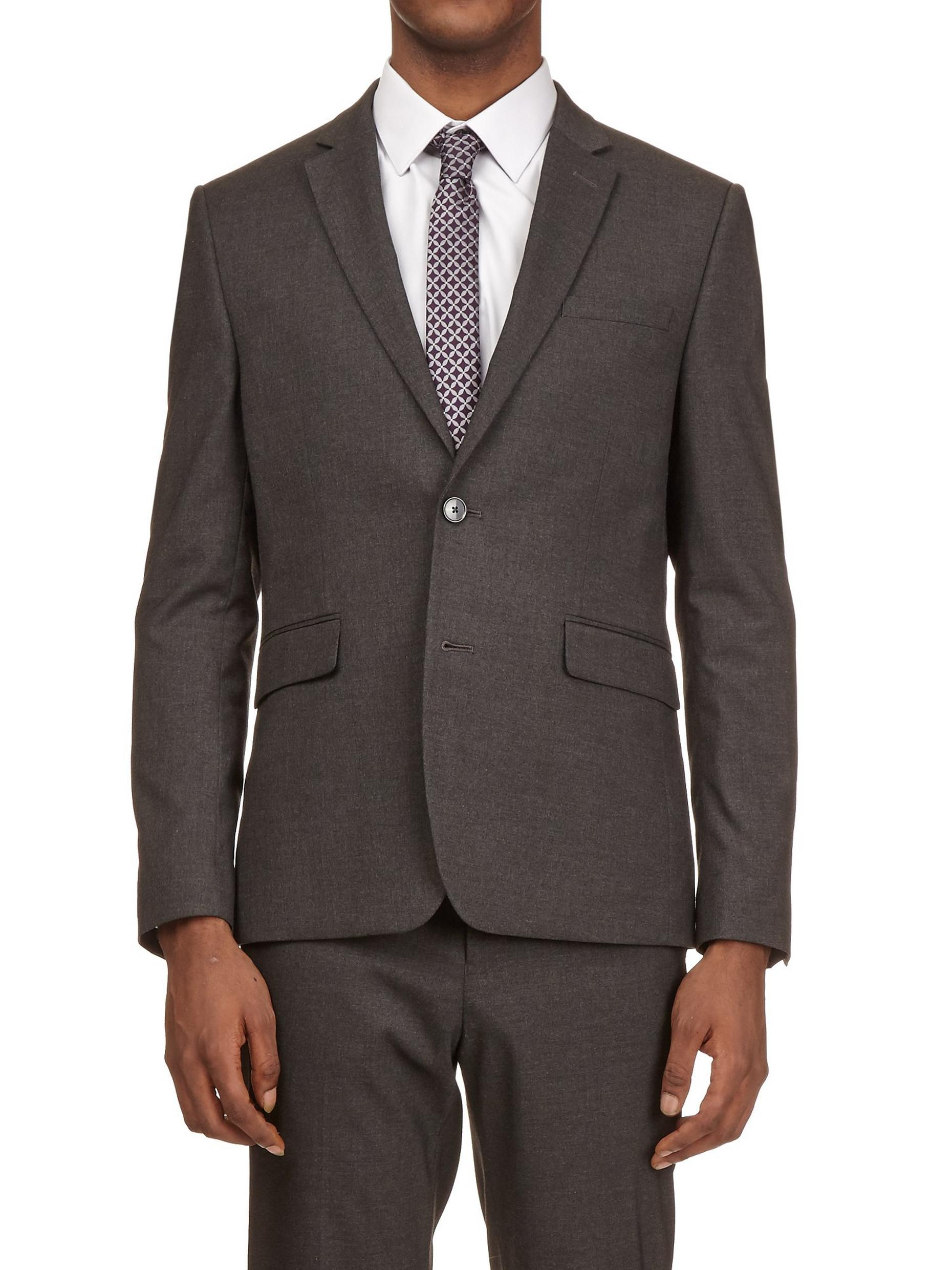 Charcoal Slim Fit Essential Suit Jacket